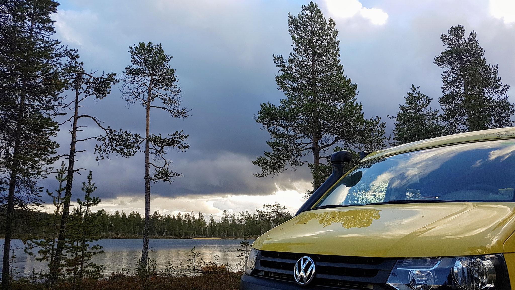 Unser ersten Übernachtungsplatz in Finnland...