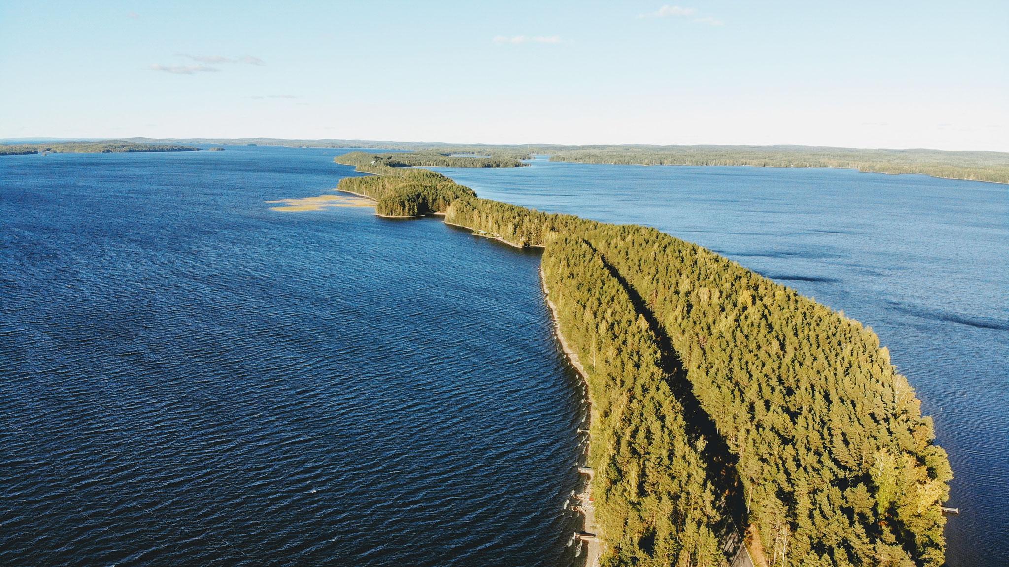 Pulkkilanharju Ridge ist eine 8km lange schmale Insel im Süden von Finnland