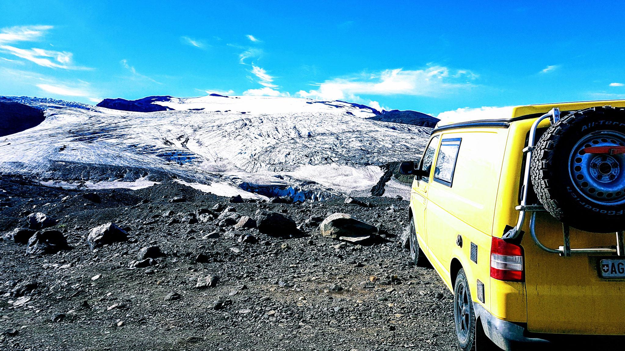 Herrliche Sicht auf den Vatnajöküll Gletscher