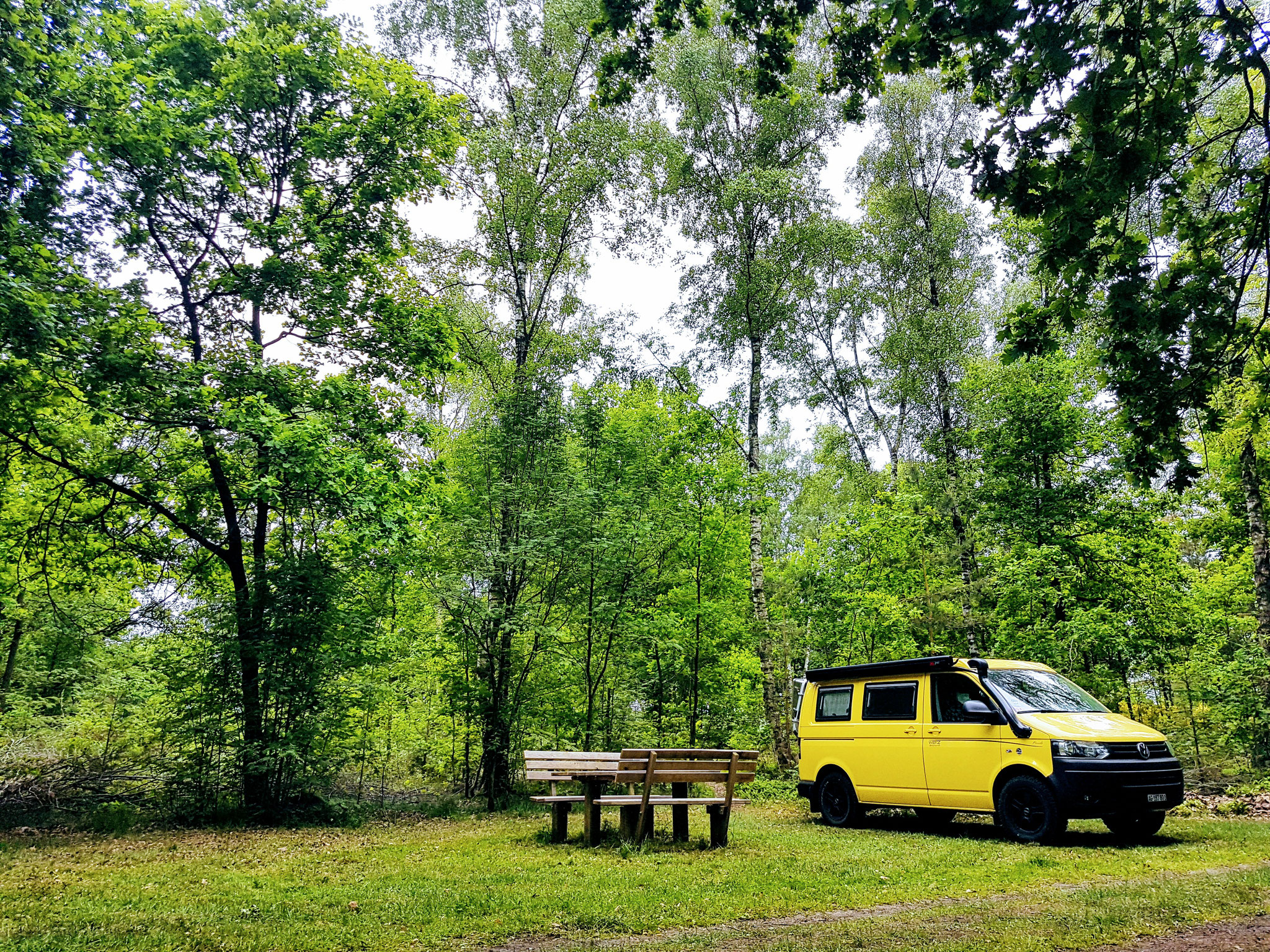 Ein schönes Übernachtungsplätzchen in der Lüneburger Heide