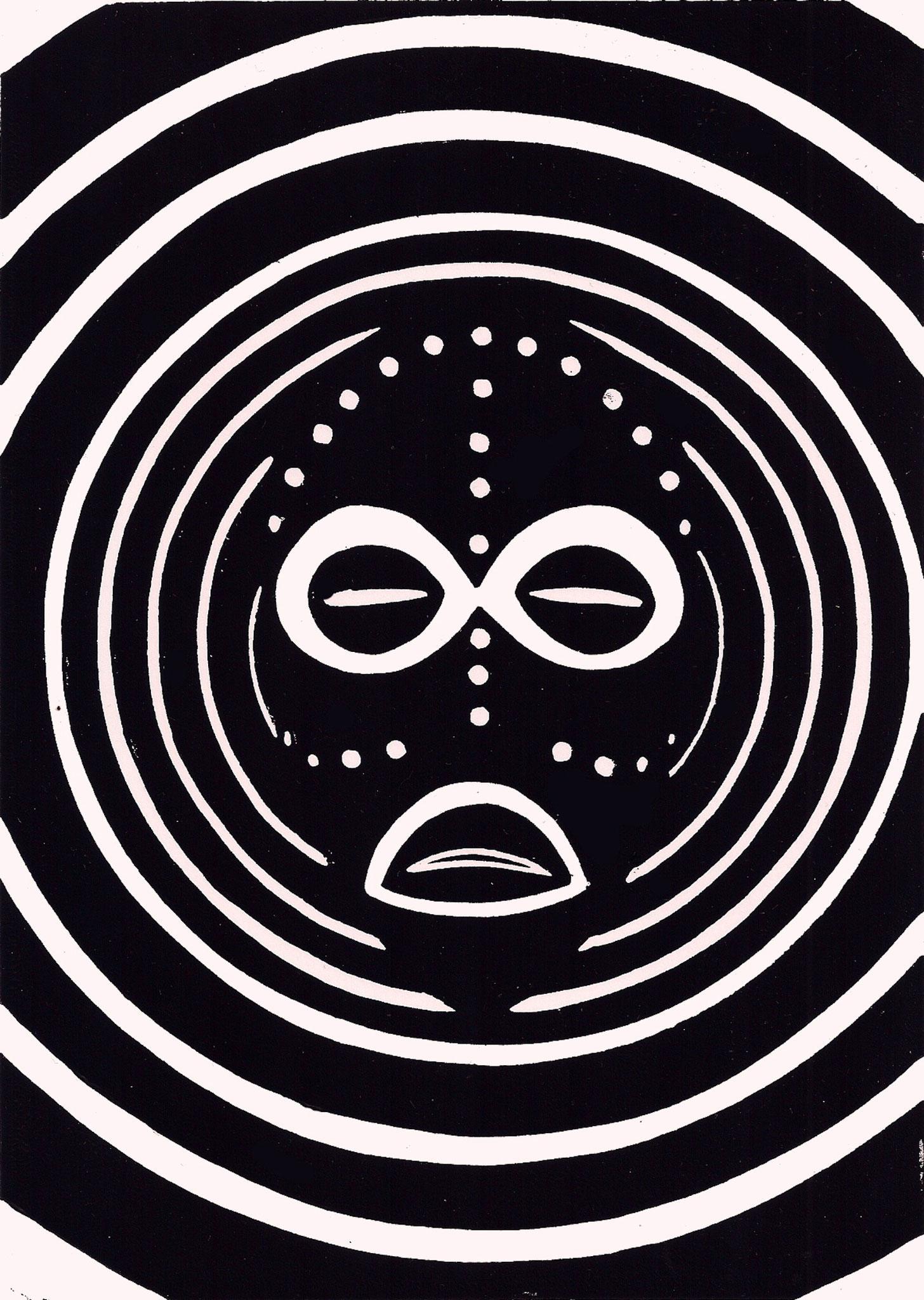 Westafrikanische Maske, 09/01/2018, Edition 5, A5