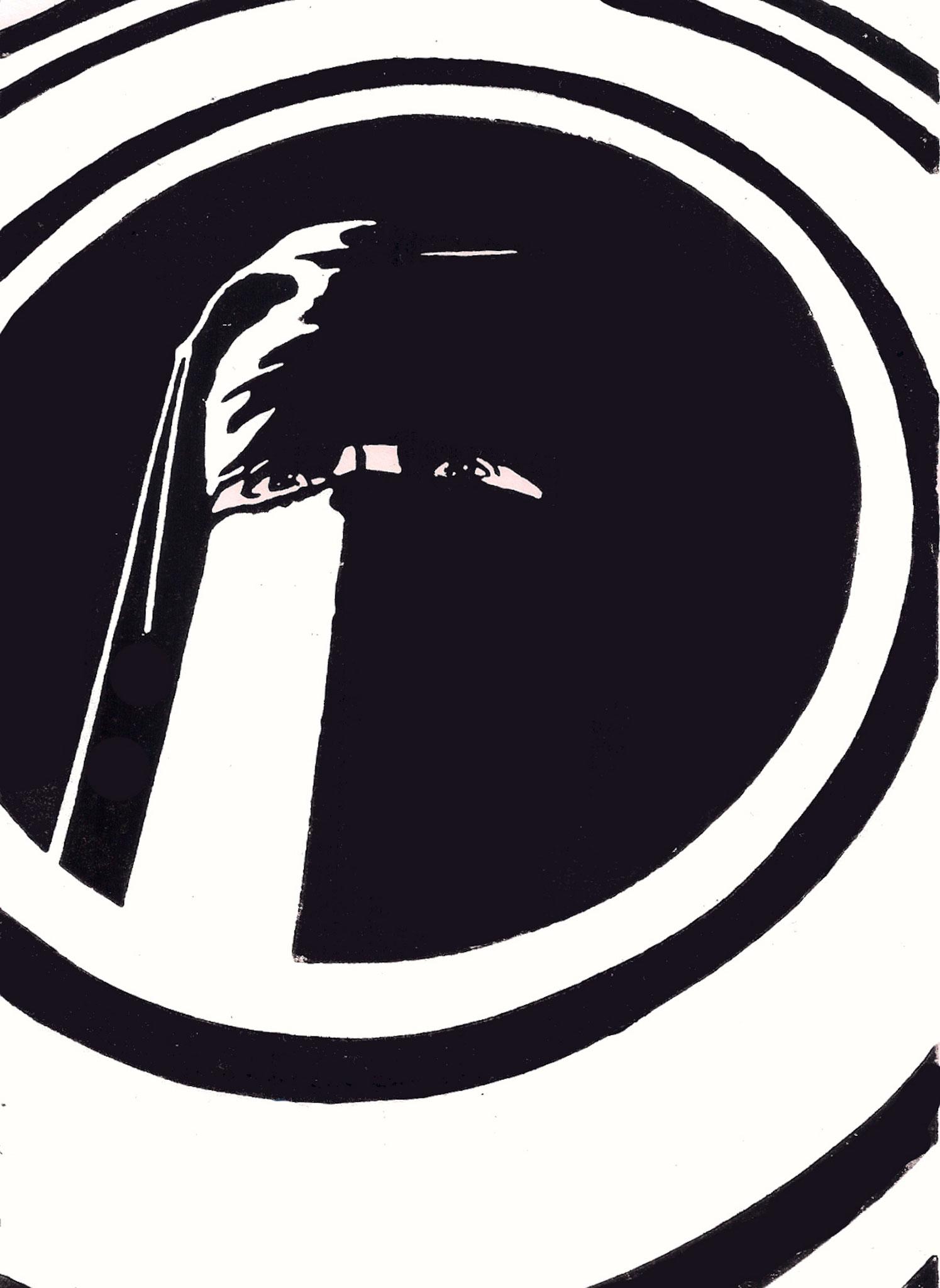 Unbekannte im Niqab, 03/11/2017, Edition 5, A5