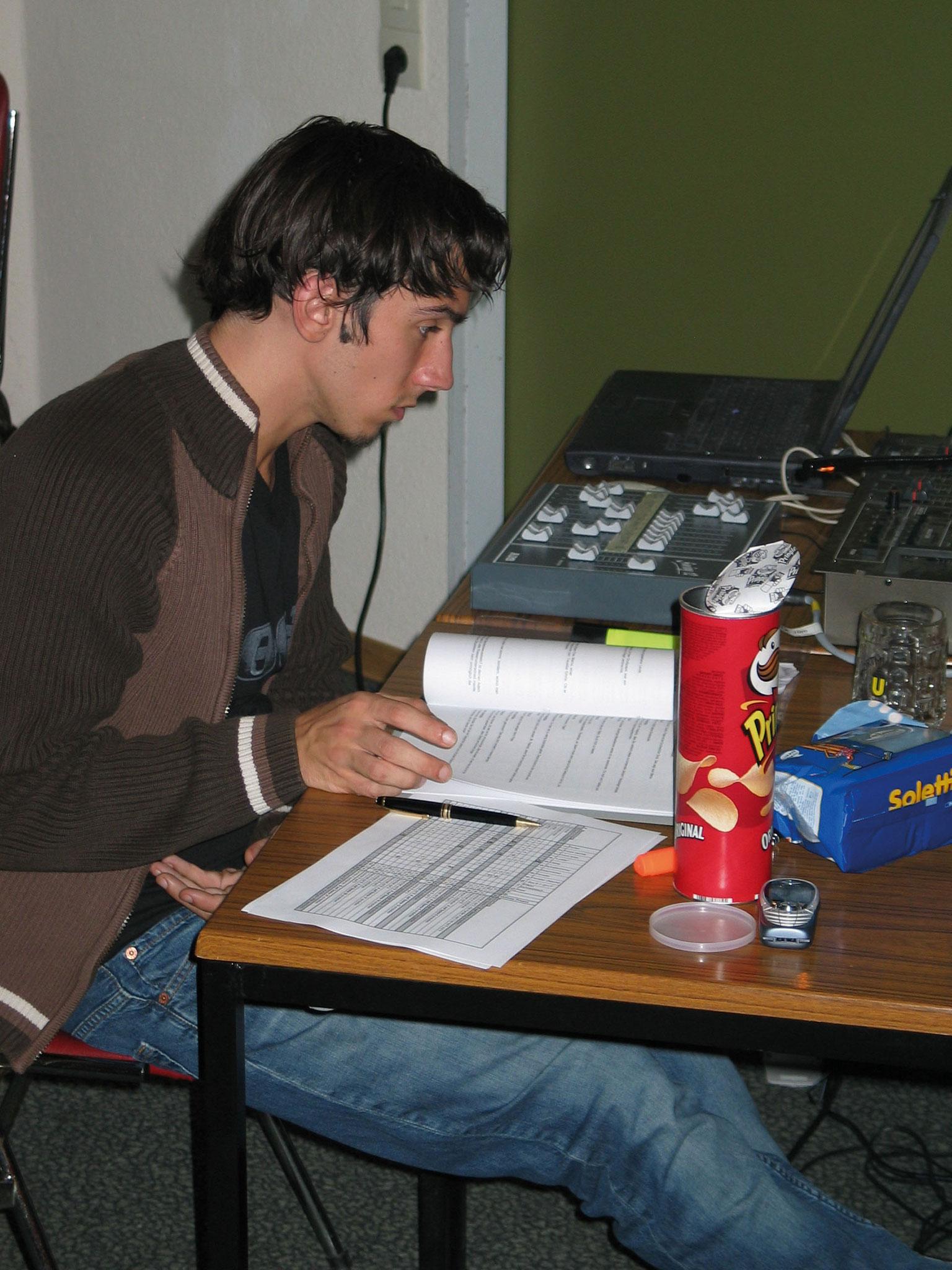 Licht- und Tontechnik: Thomas Rittler bei Brave Diebe 2004
