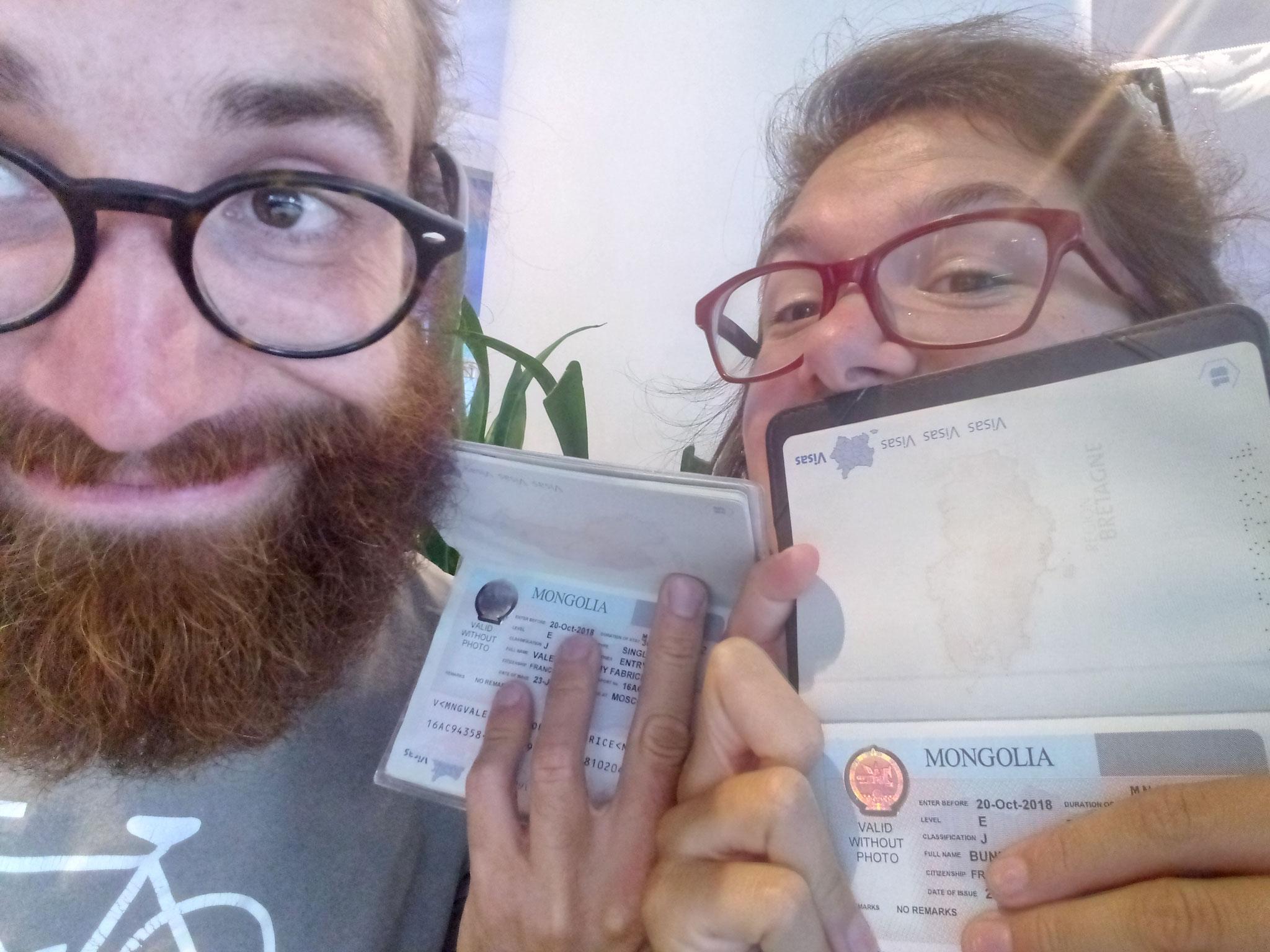 On a les visas Mongoooooooools