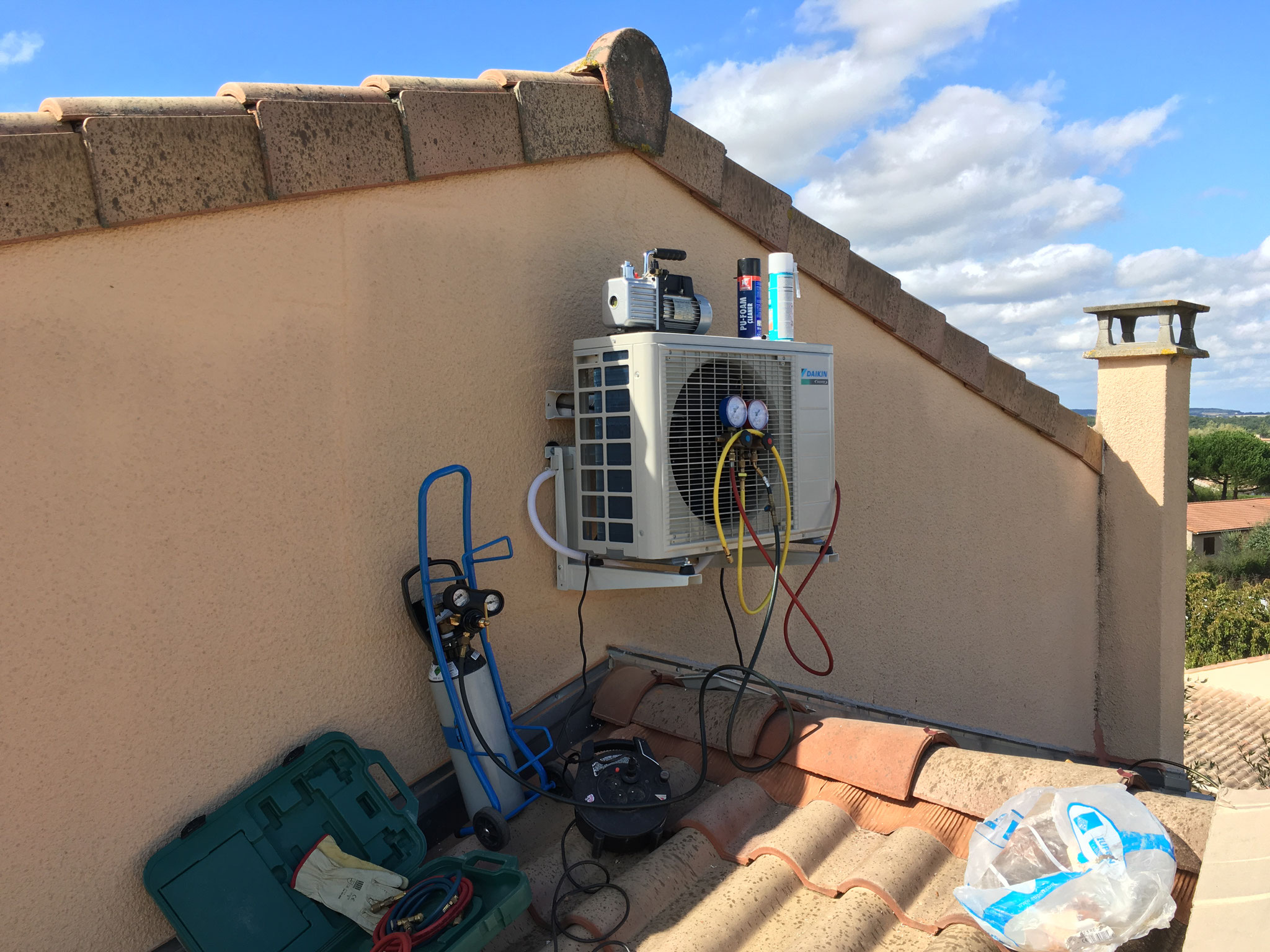 Mise en service après installation d'une climatisation réversible
