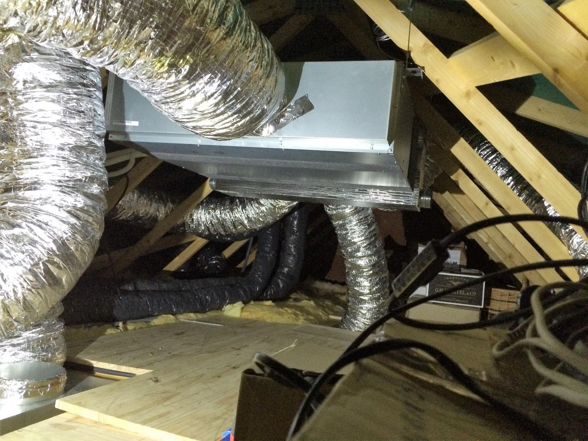 Unité intérieure gainable d'une climatisation réversible coté Nuit