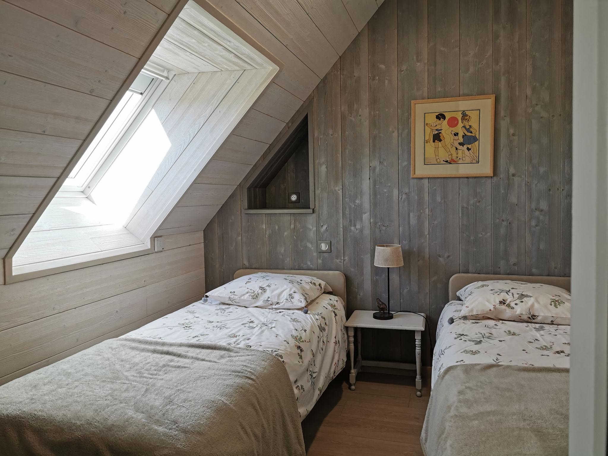 La suite de l'Atelier: chambre avec 2 lits de 80/200