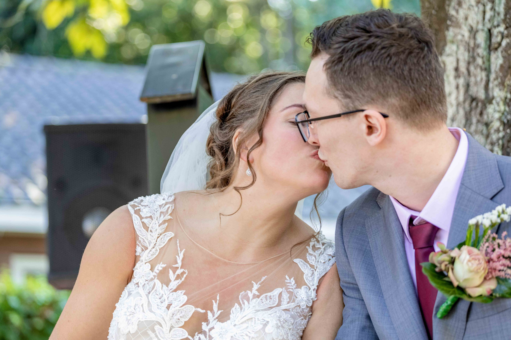 De trouwkus onvergetelijk