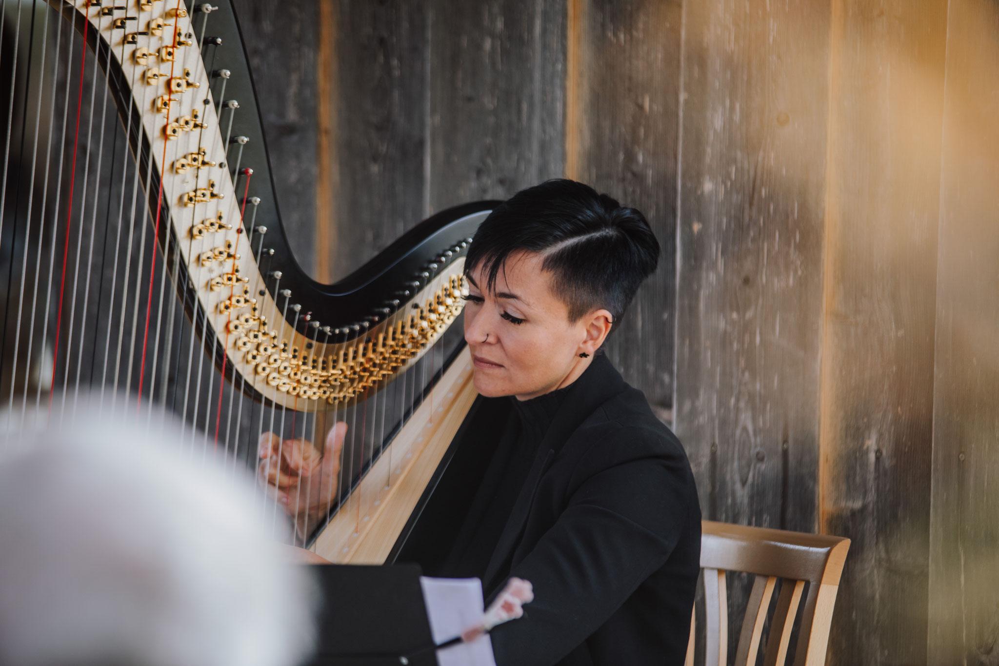 Barbara Regnat - Pilling an der Harfe
