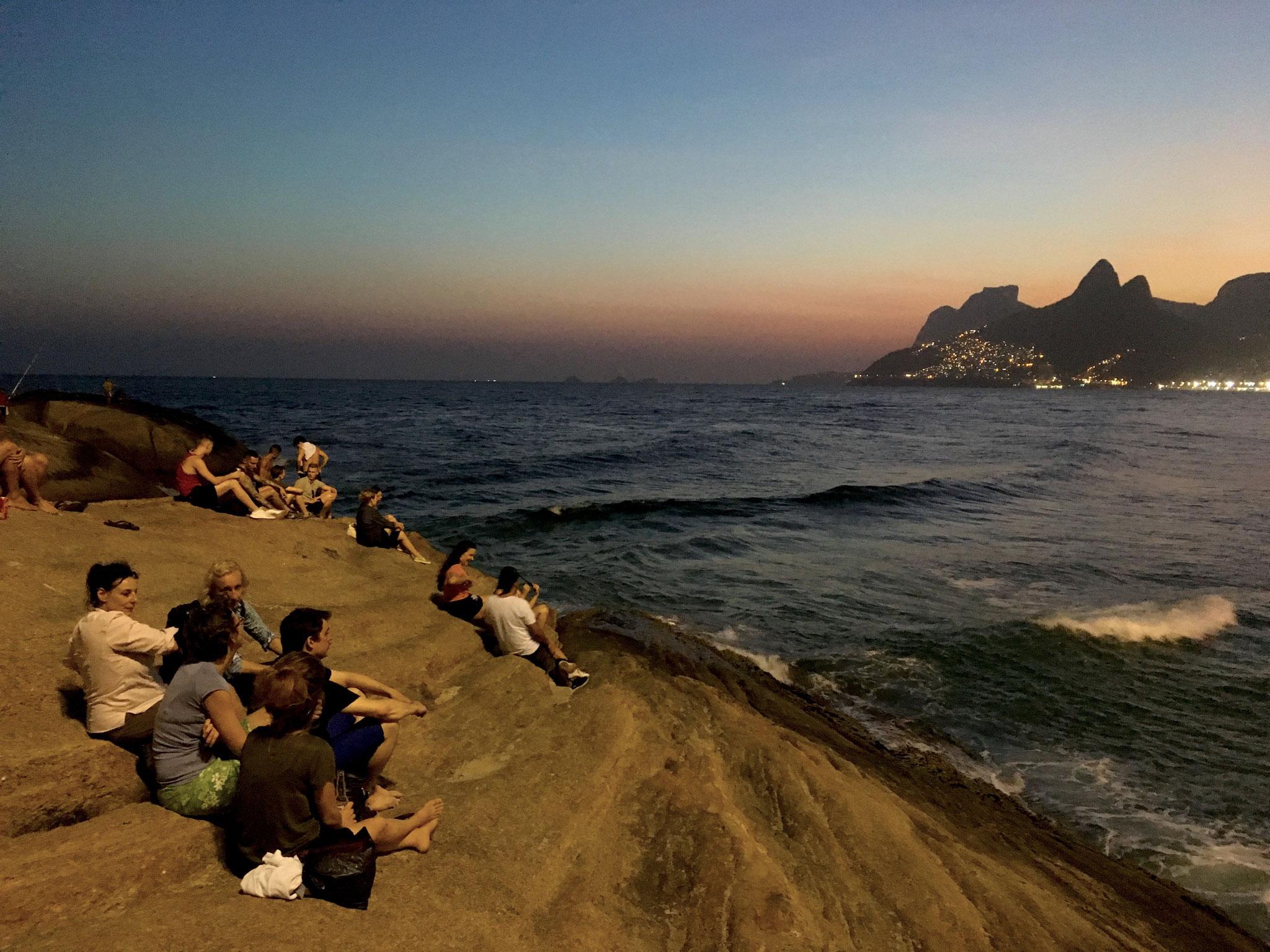 Sonnenuntergang am Ipanema Beach