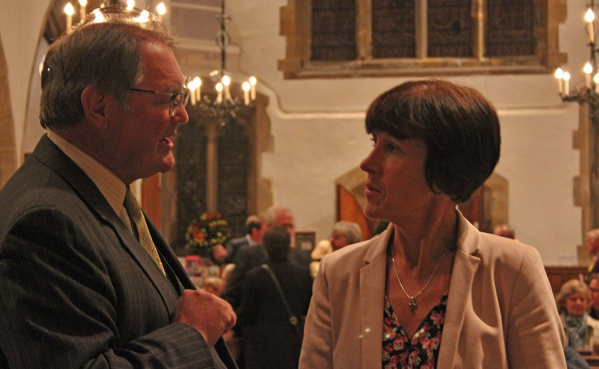 Patron J Lucas and Head of the School, Jill Costello