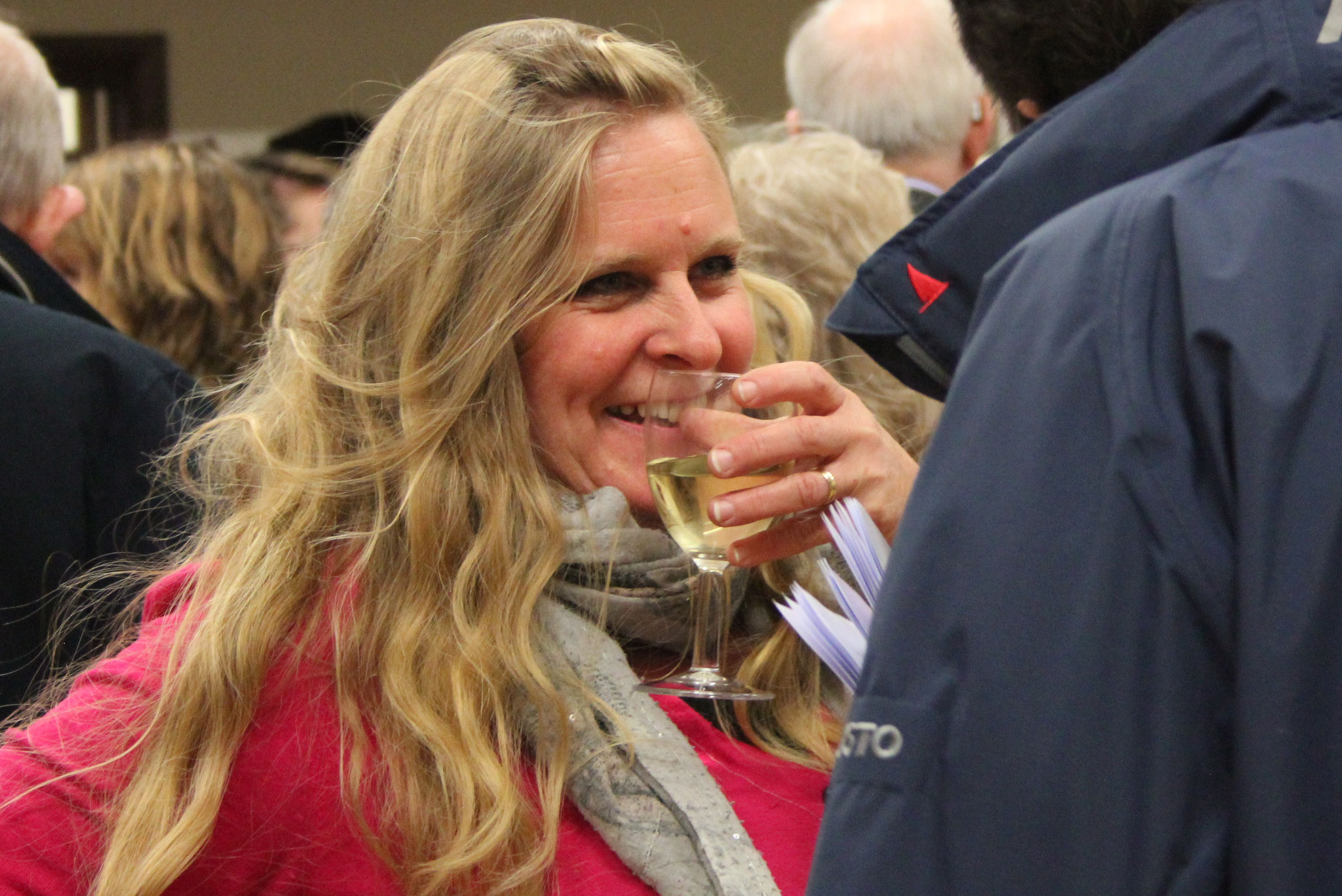 At the reception