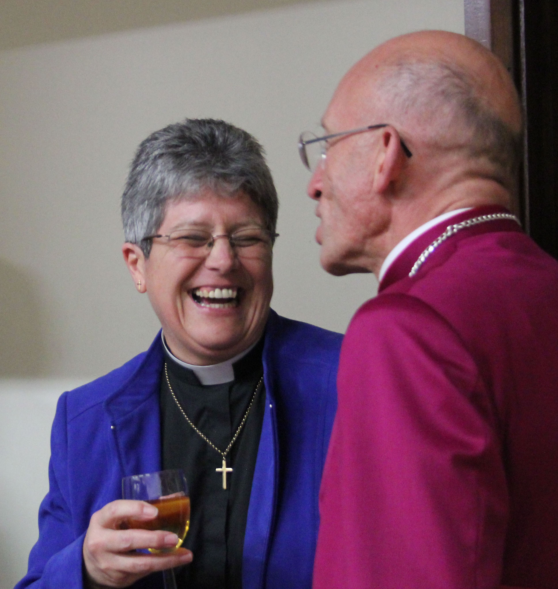Revd Sandra Hall with the Bishop of Chichester