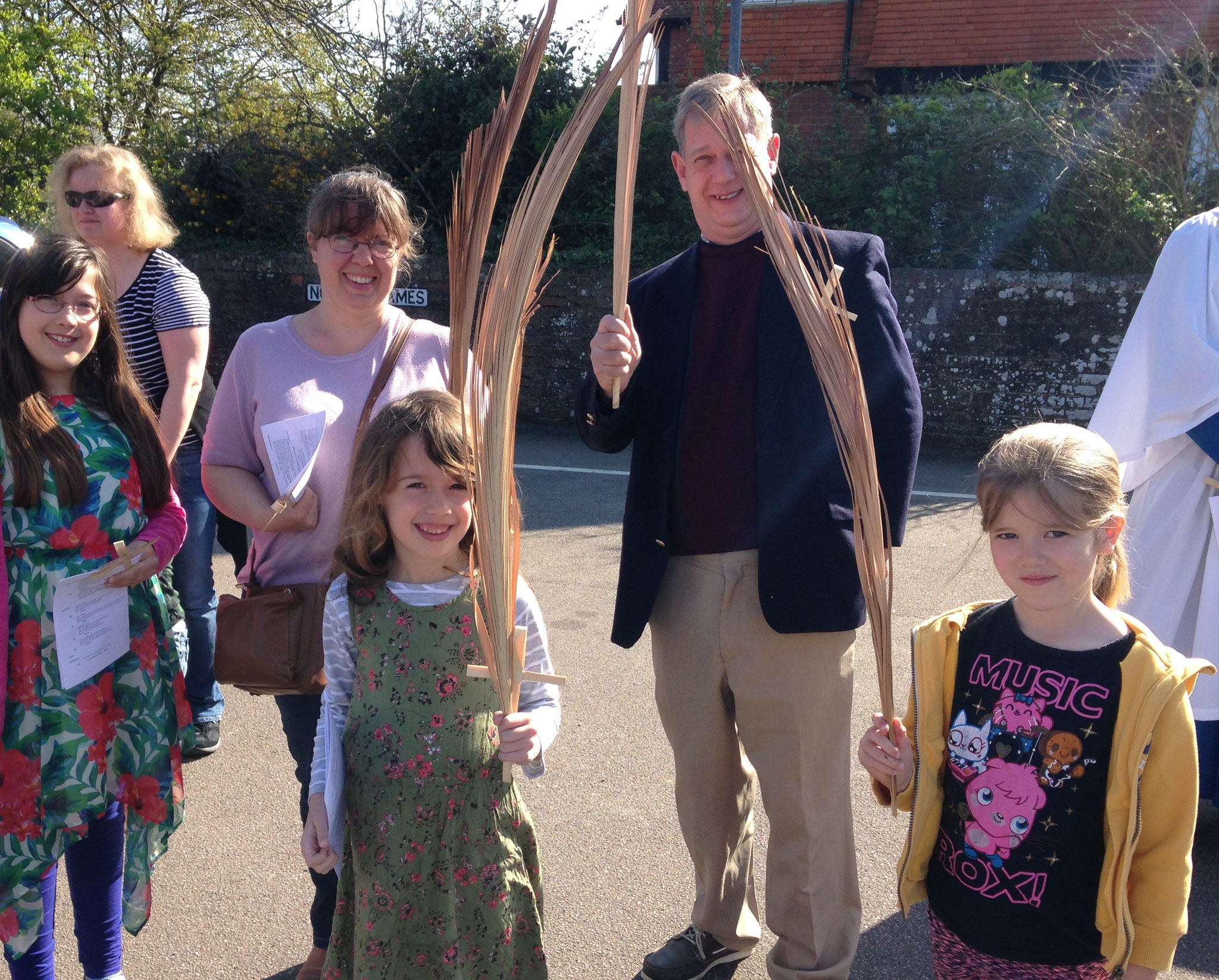 Palms at the ready