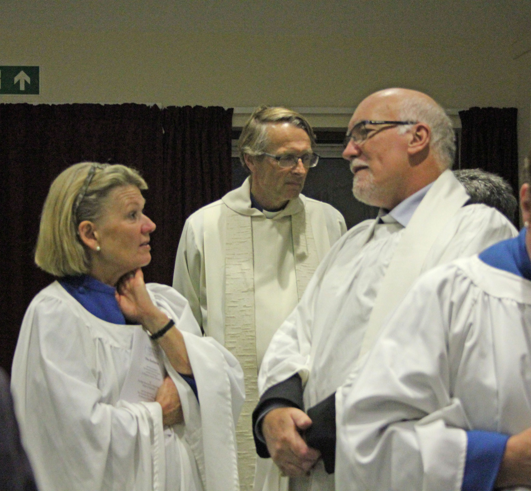 Before the service