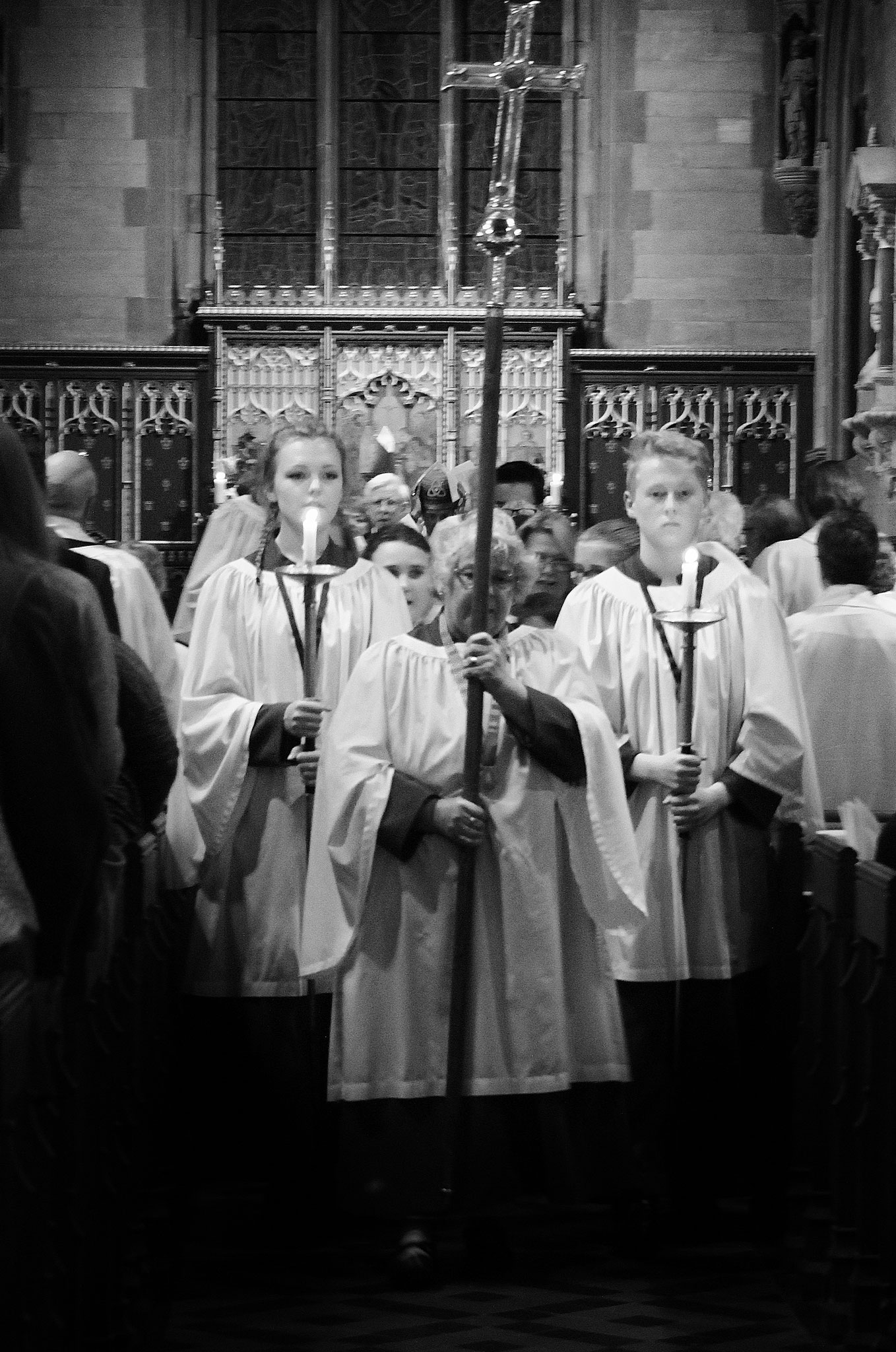 Cross and acolytes lead the recession