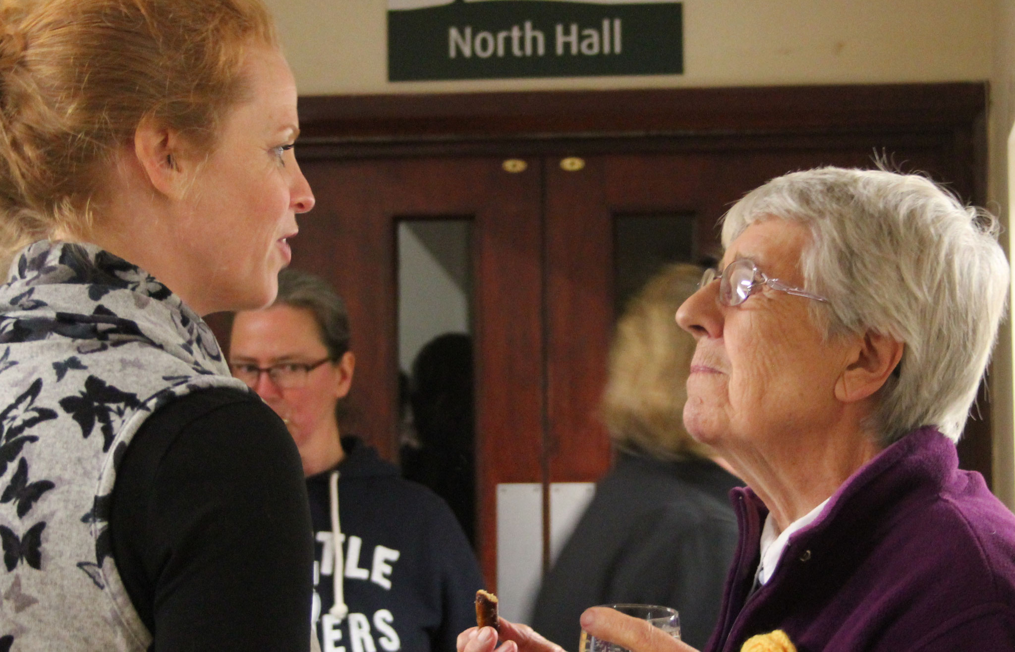 Parishioners Lisa and Vivien