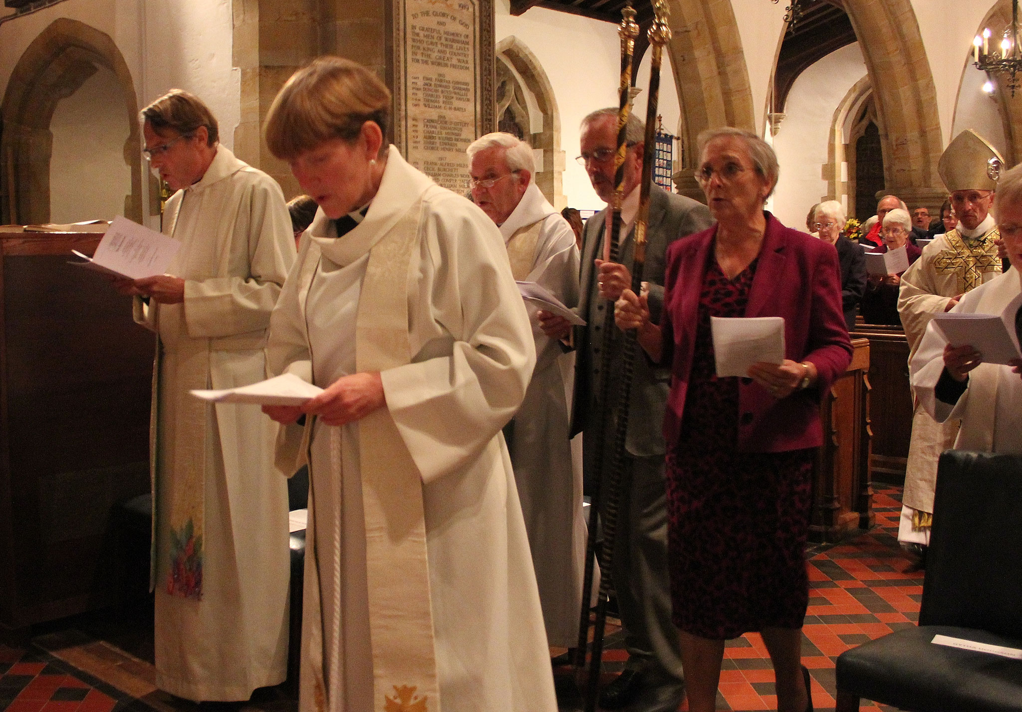 Churchwardens Gytha Hodgson and Michael Burgess