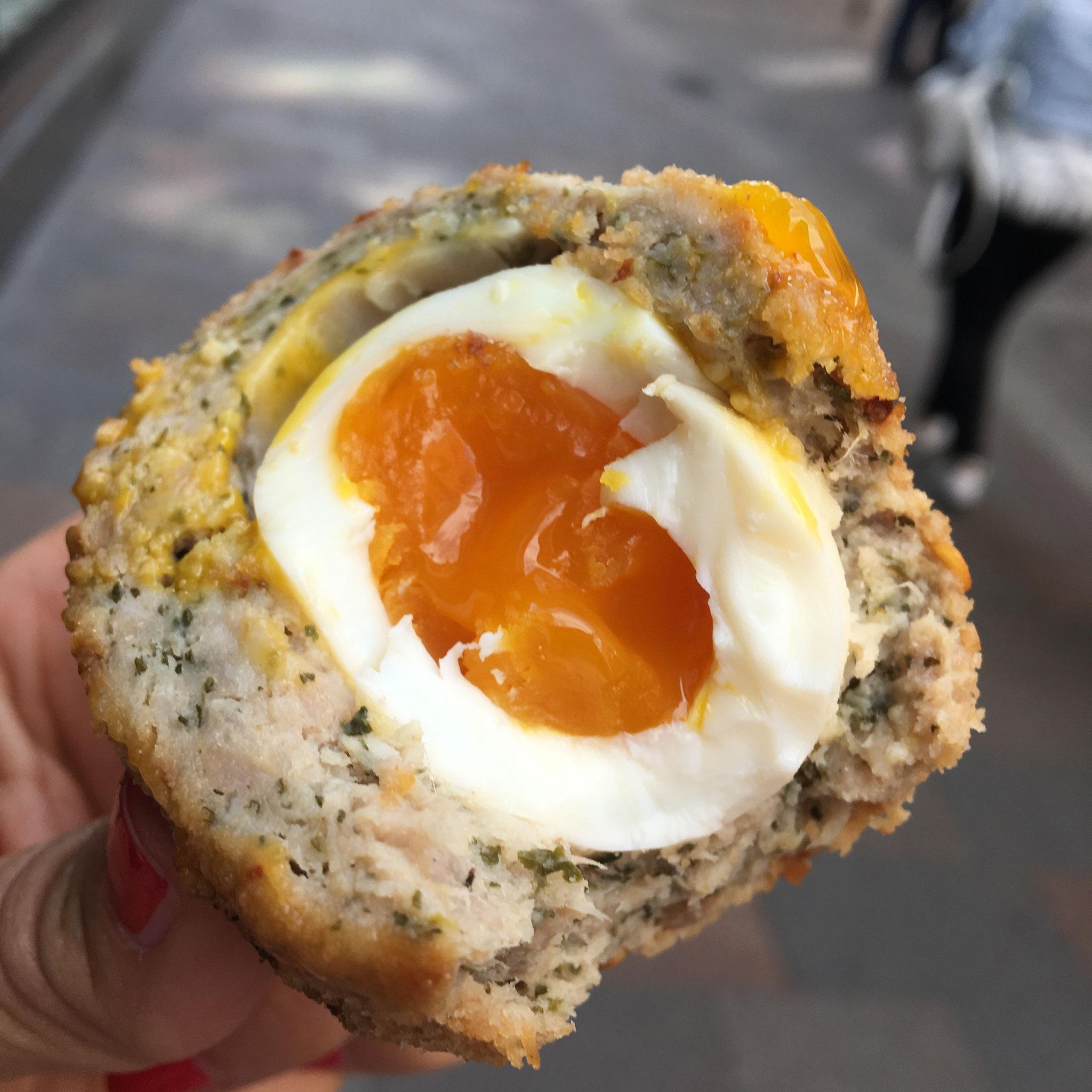 Harrods London scotch egg