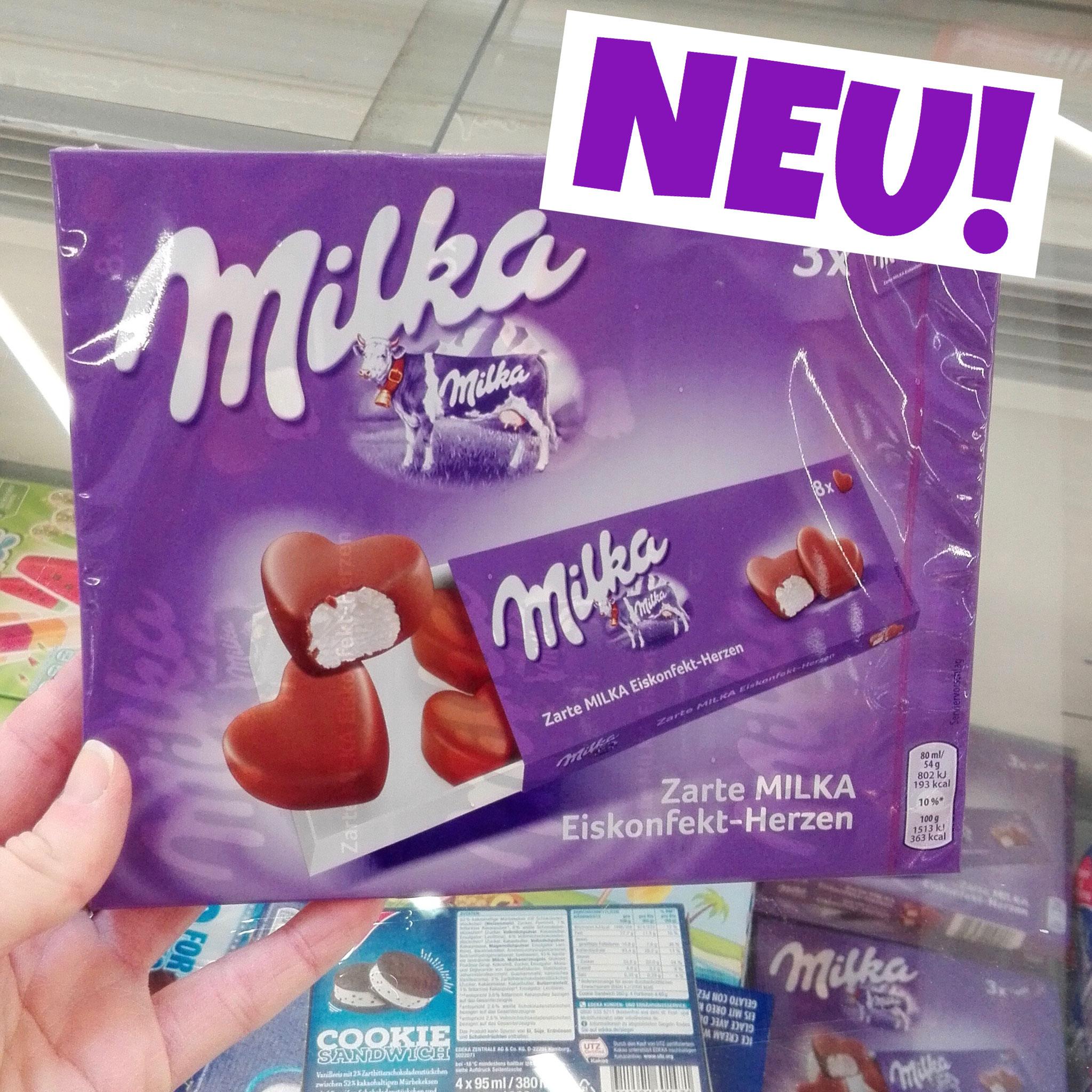 Milka Eiskonfekt Herzen