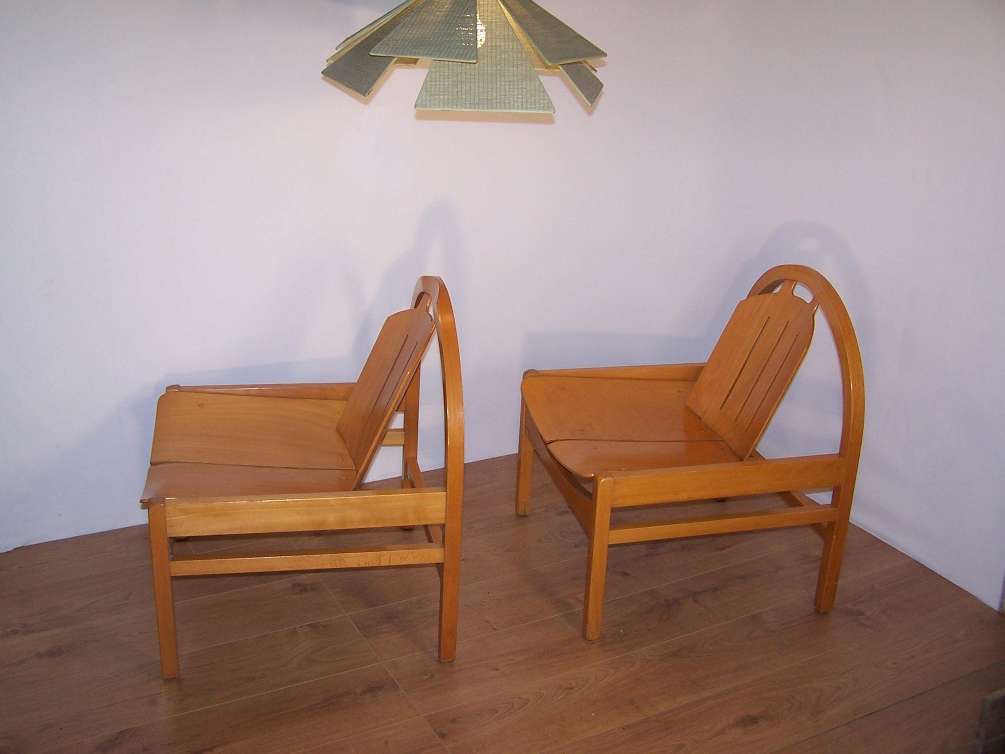2 fauteuils lounge baumann majdeltier boutique en ligne. Black Bedroom Furniture Sets. Home Design Ideas