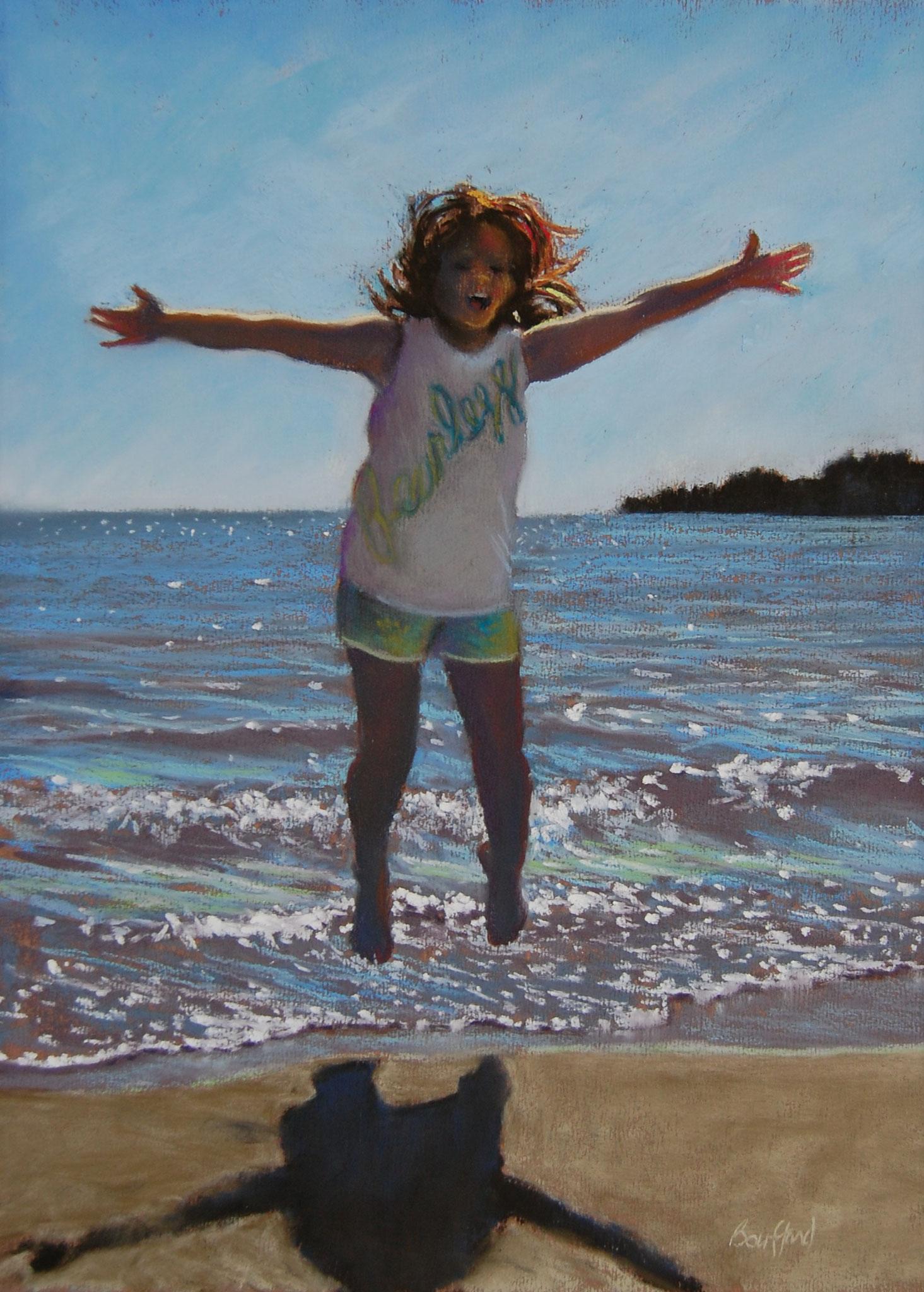 Jump For Joy Providence Bay 22 x 18 pastel