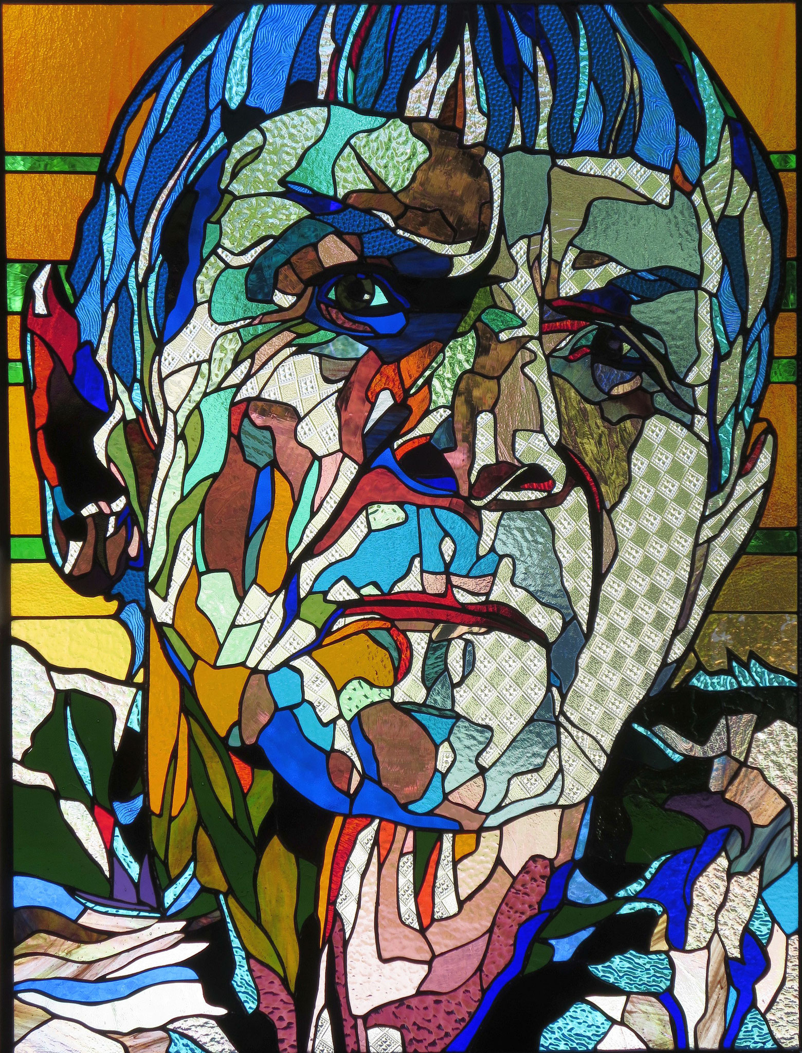SPOCK 26 x 34.5 inches stained glass