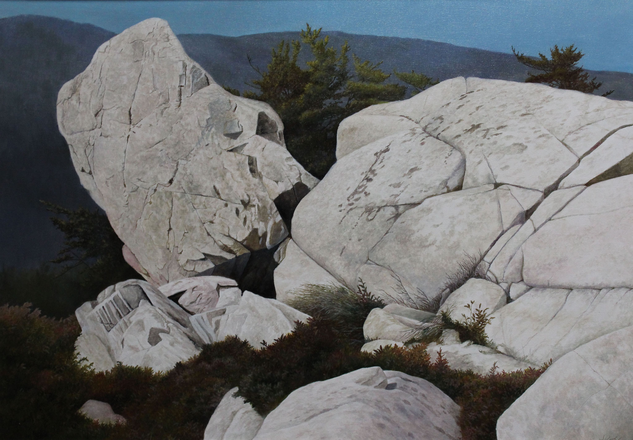 Rocks Near Fraser Point,  Ivan Wheale Oil on canvas 24 X 34