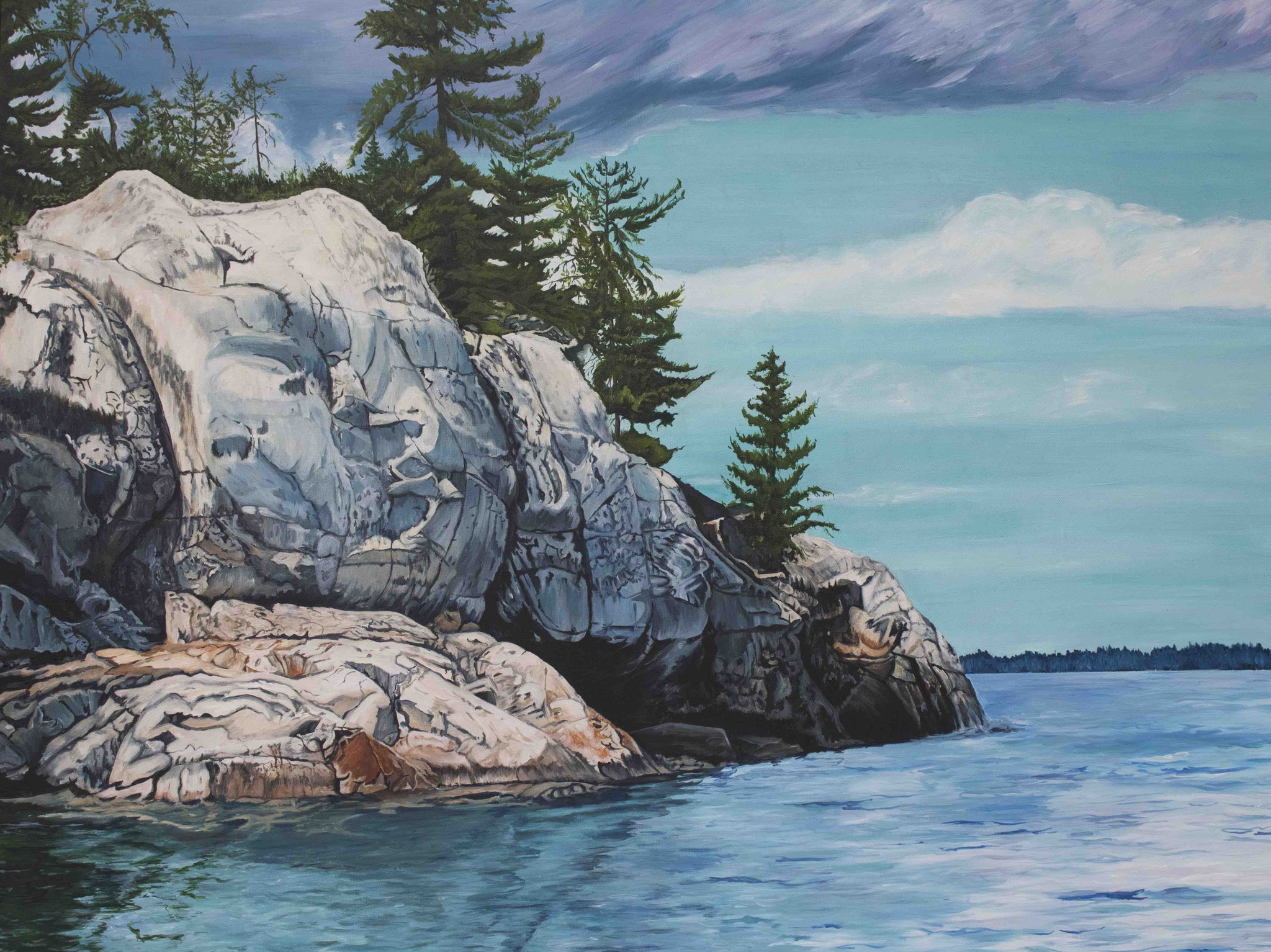IF THESE ROCKS COULD SPEAK  36 x 48 acrylic
