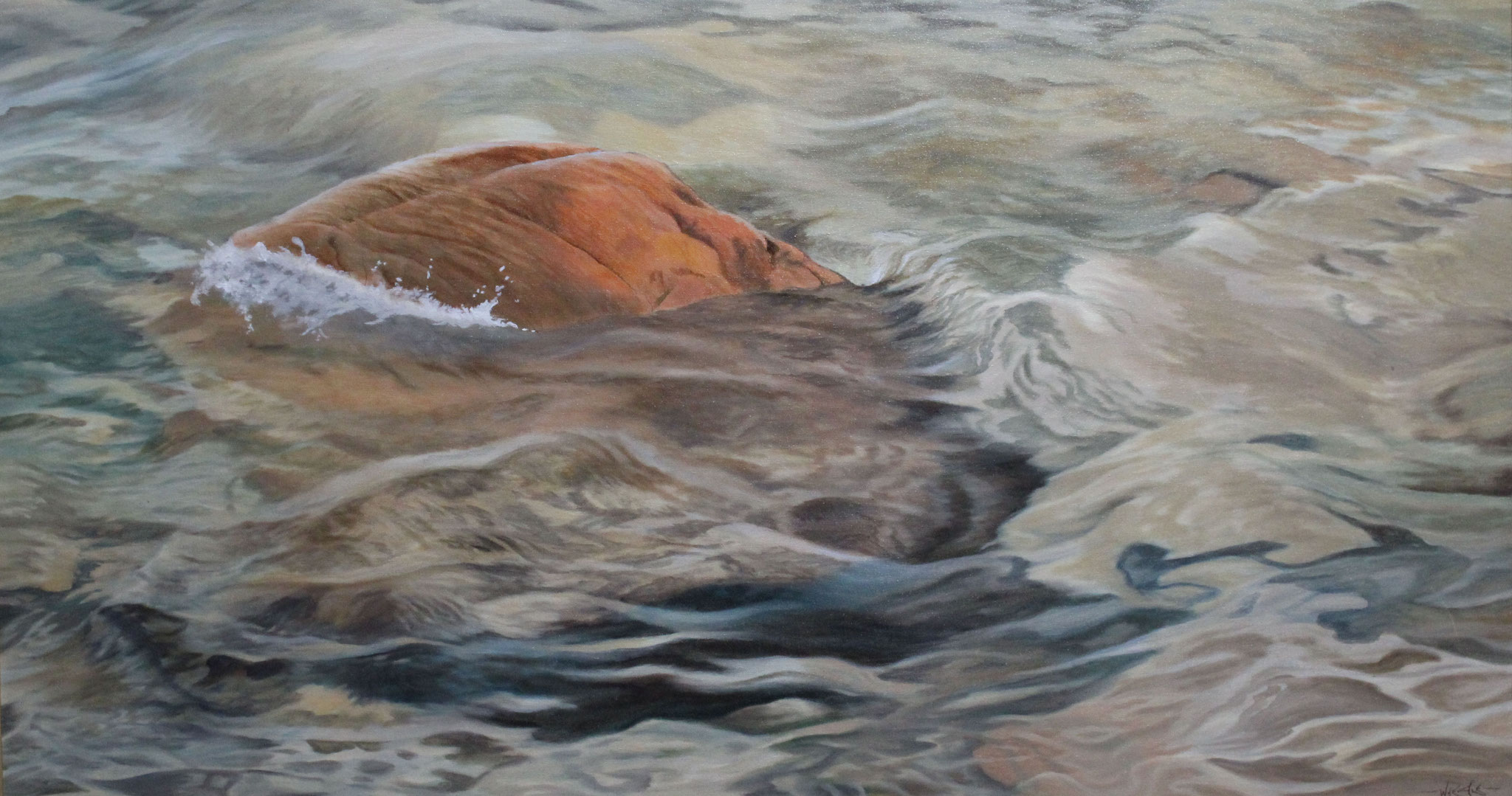 The Shoal, Ivan Wheale 20X36 oil on canvas