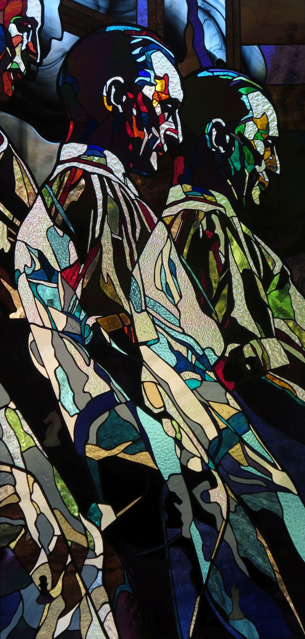 MARCEL DUCHAMP_25 x 51 inches stained glass, photo by Hadyn Butler