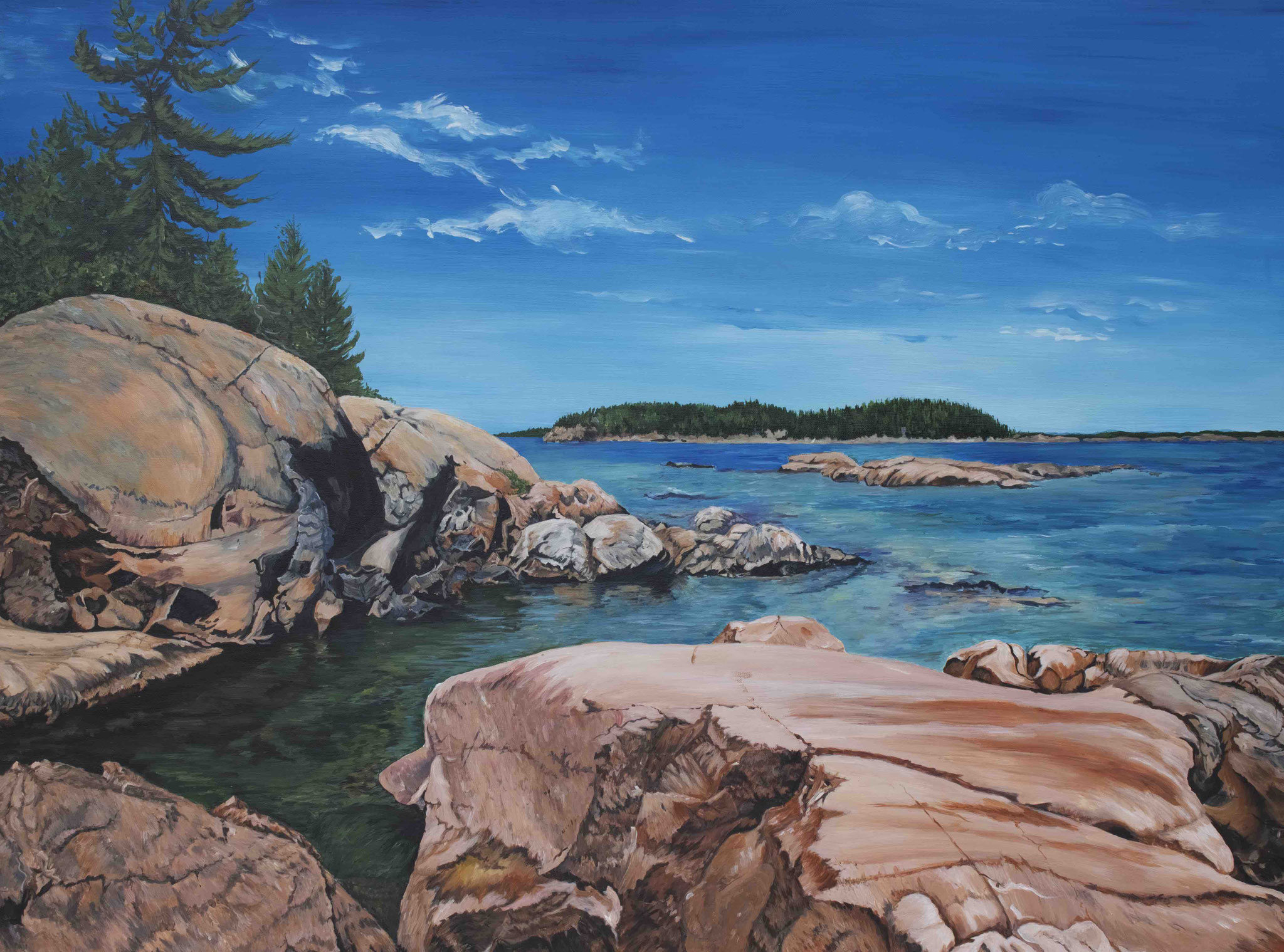 FOR THE LOVE OF GEORGIAN BAY 36 x 48 acrylic by Kathleen Pistor  Ist place winner of People's Choice Award