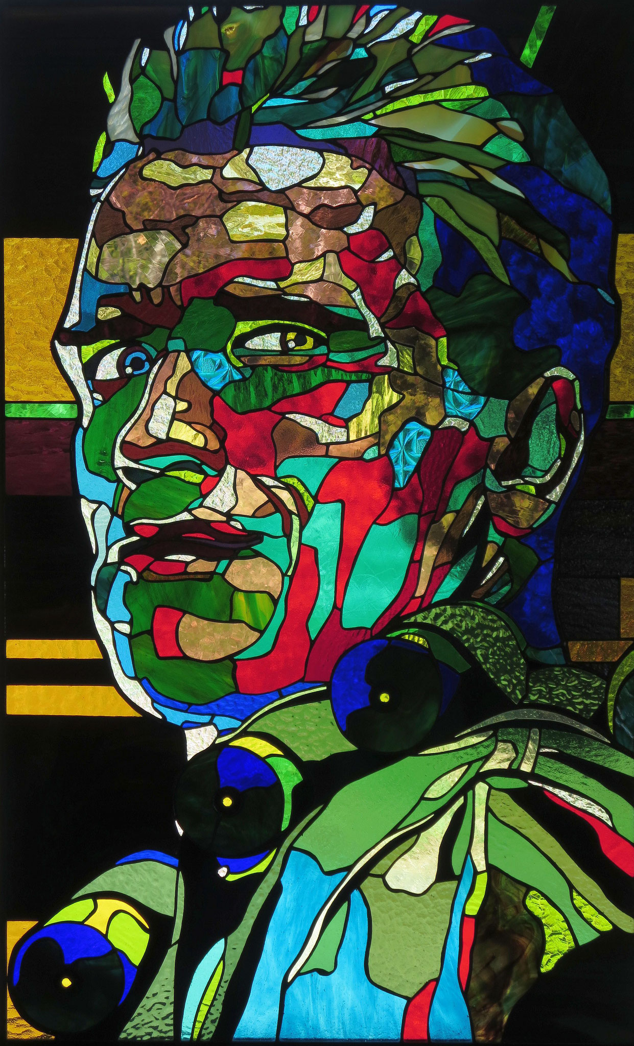 ARNOLD  25 x 40 inches stained glass