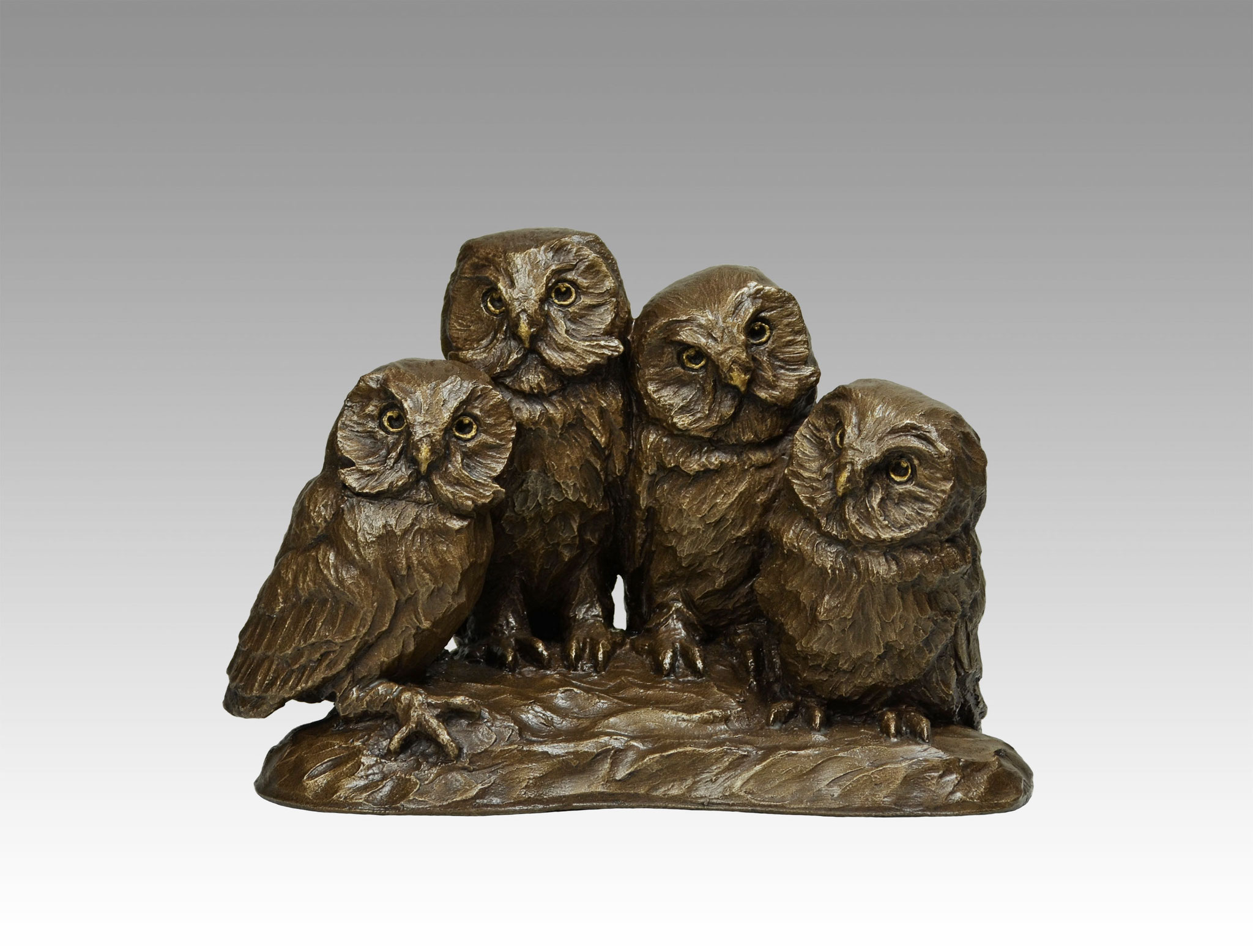 """NEW!  SAW-WHET QUARTET 11"""" Limited Edition Metal Infused, 11""""L"""