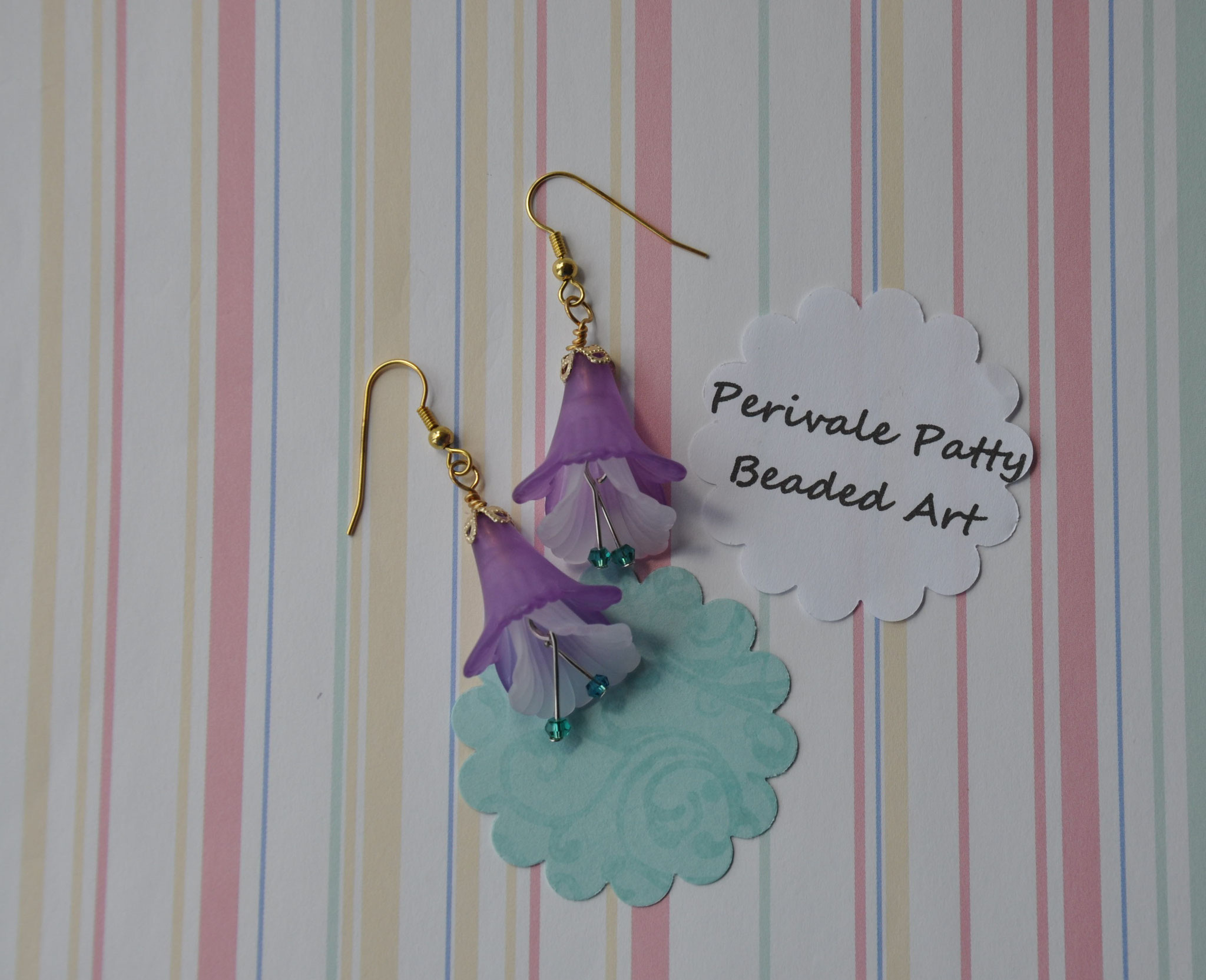 Perivale Patty dangle flower Earrings  $12.00