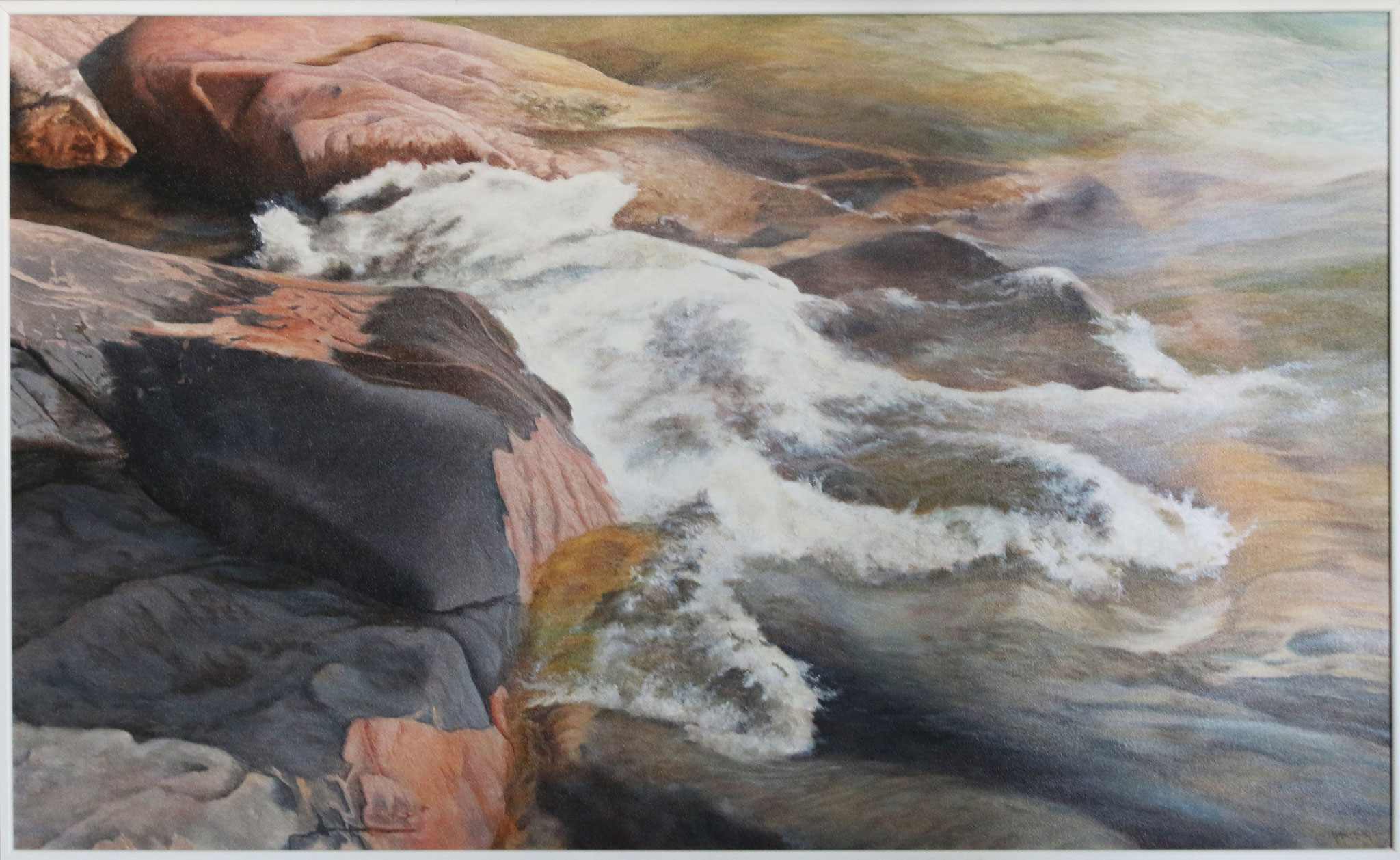 Waves,Lake Superior  22 x 36  Oil on Canvas