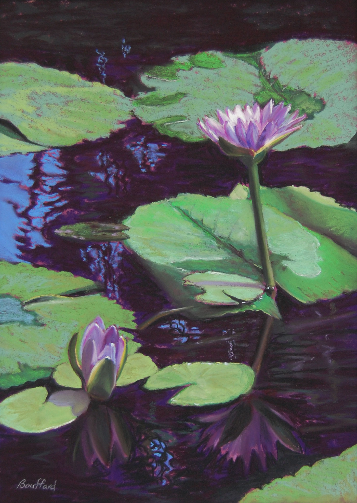 Lotus Positions 22 x 18 pastel