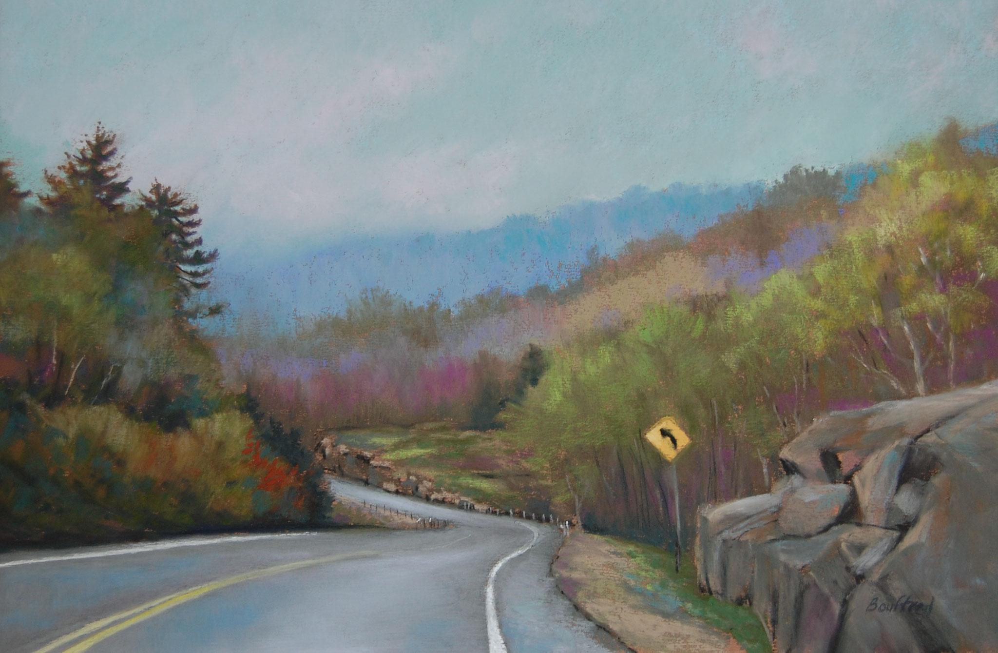 Spring Road Trip 20.5 x 26.5 pastel