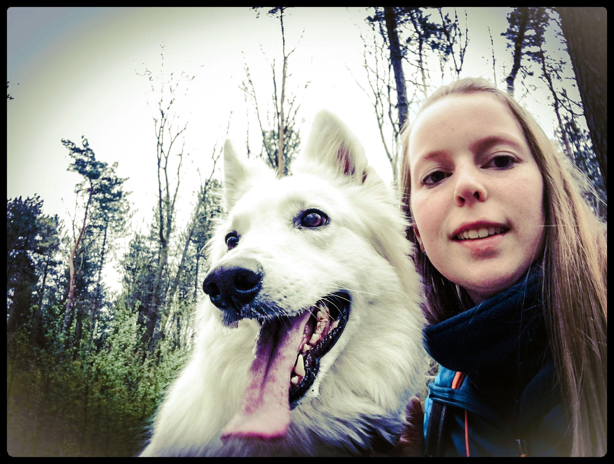 Kaly & me in het hondenbos I