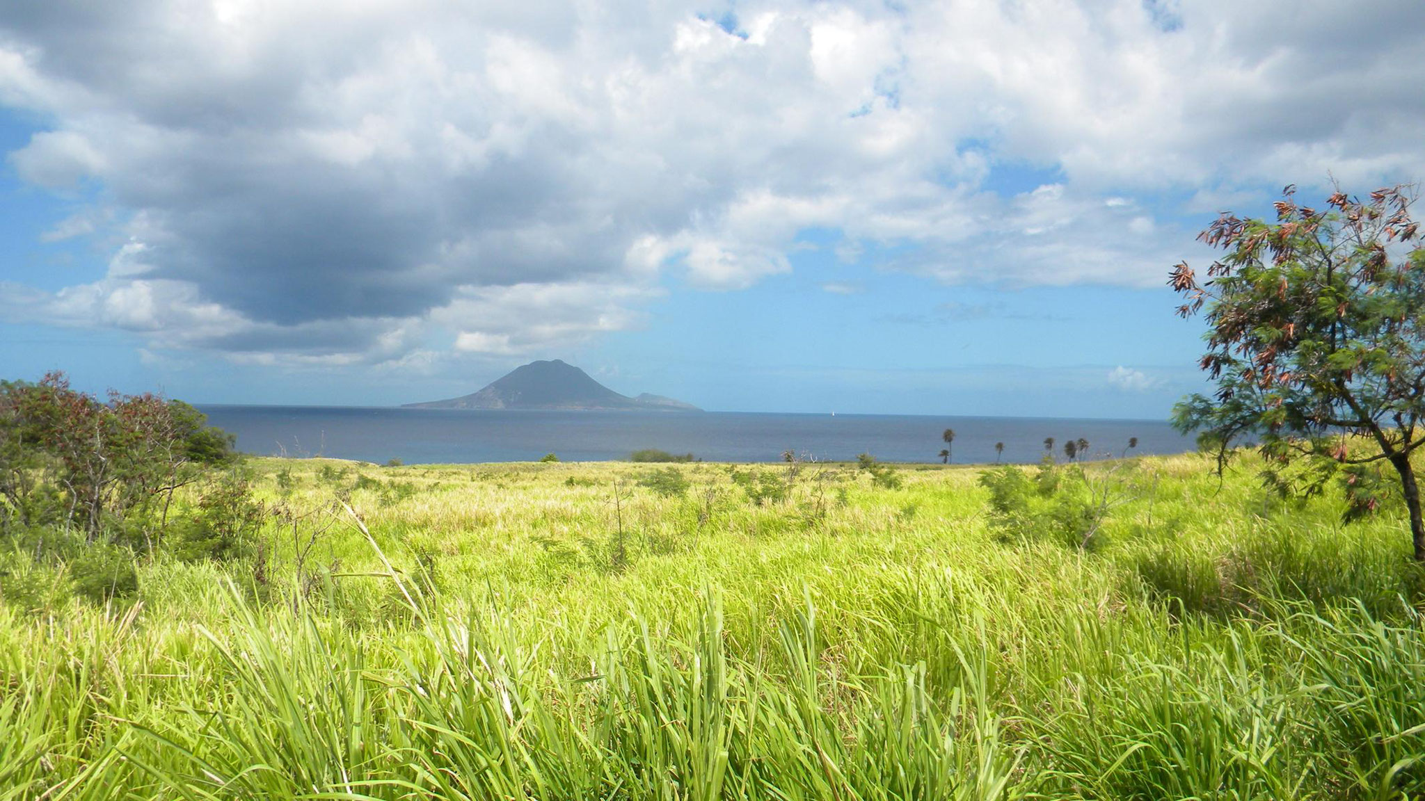 Blick nach Sint Eustatius
