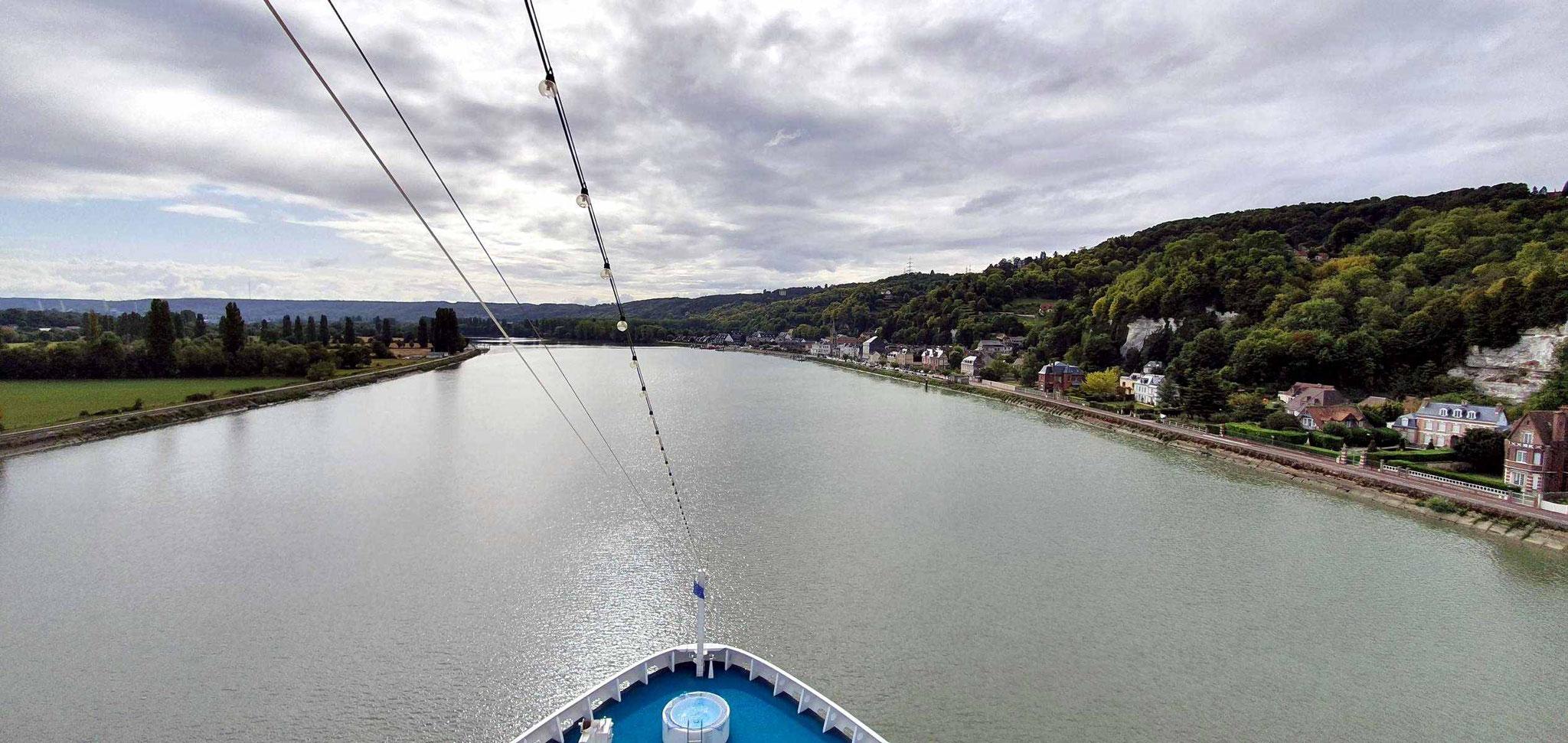 Fahrt auf der Seine nach Rouen