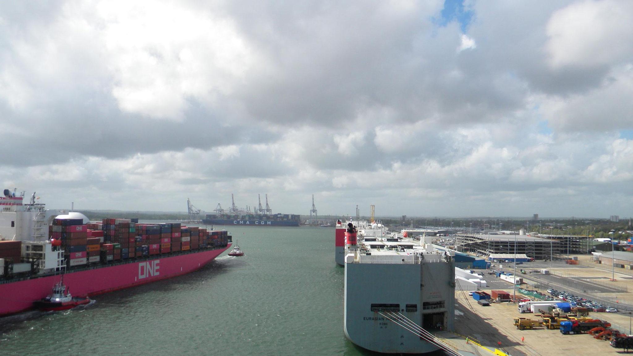Blick Richtung Mayflower Cruise Terminal
