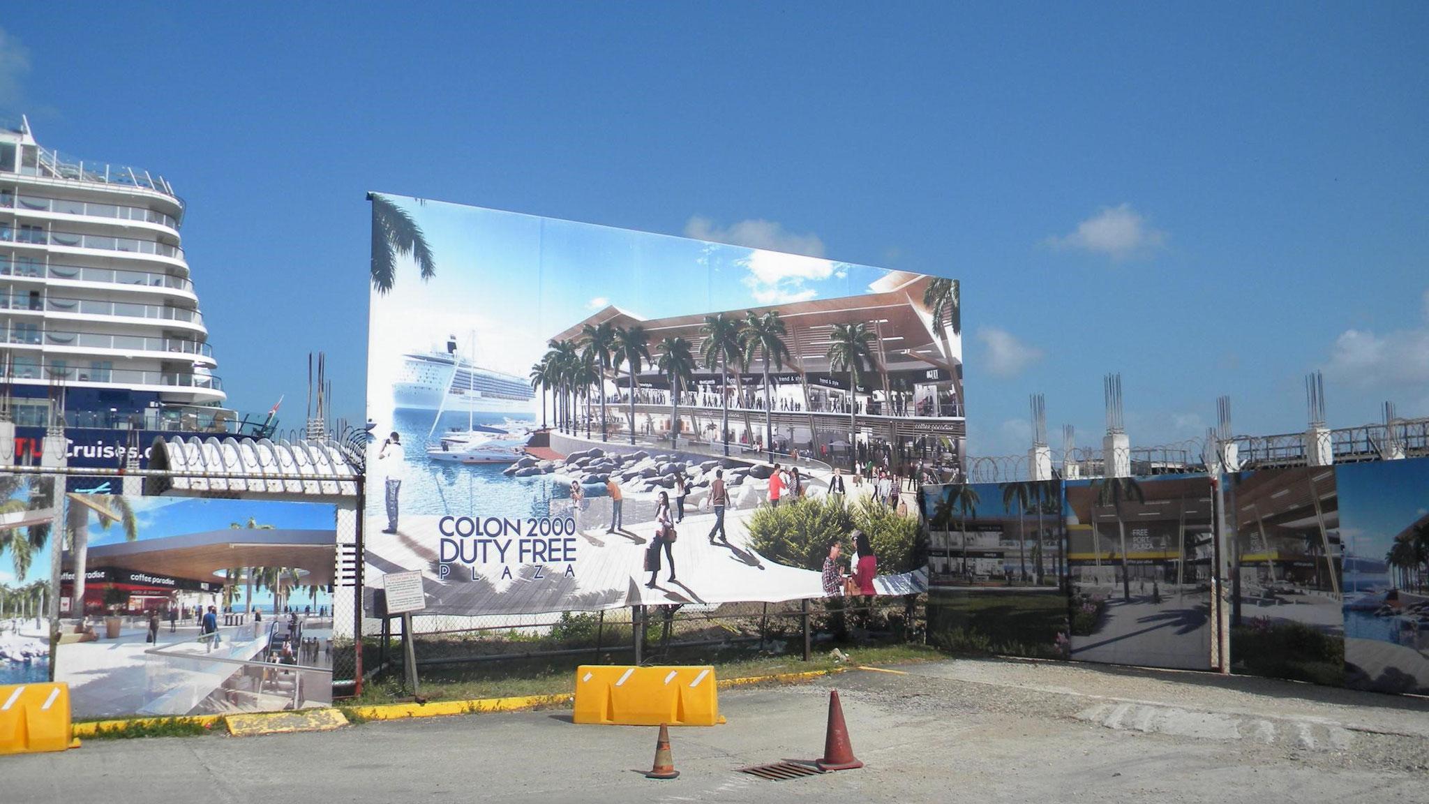 Baustelle neben dem Colón 2000 Cruise Terminal