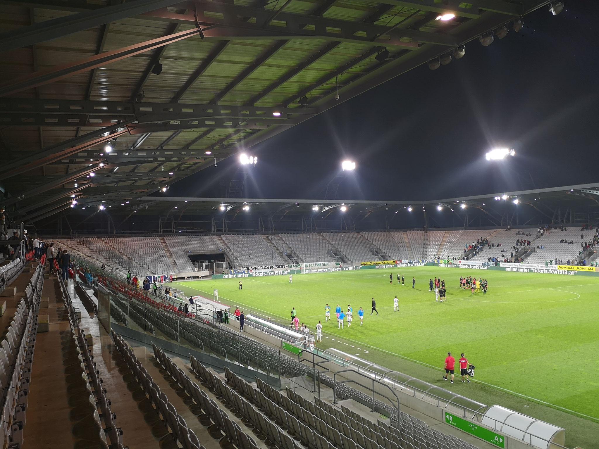 Flutlichtanlage Tivoli Stadion Tirol