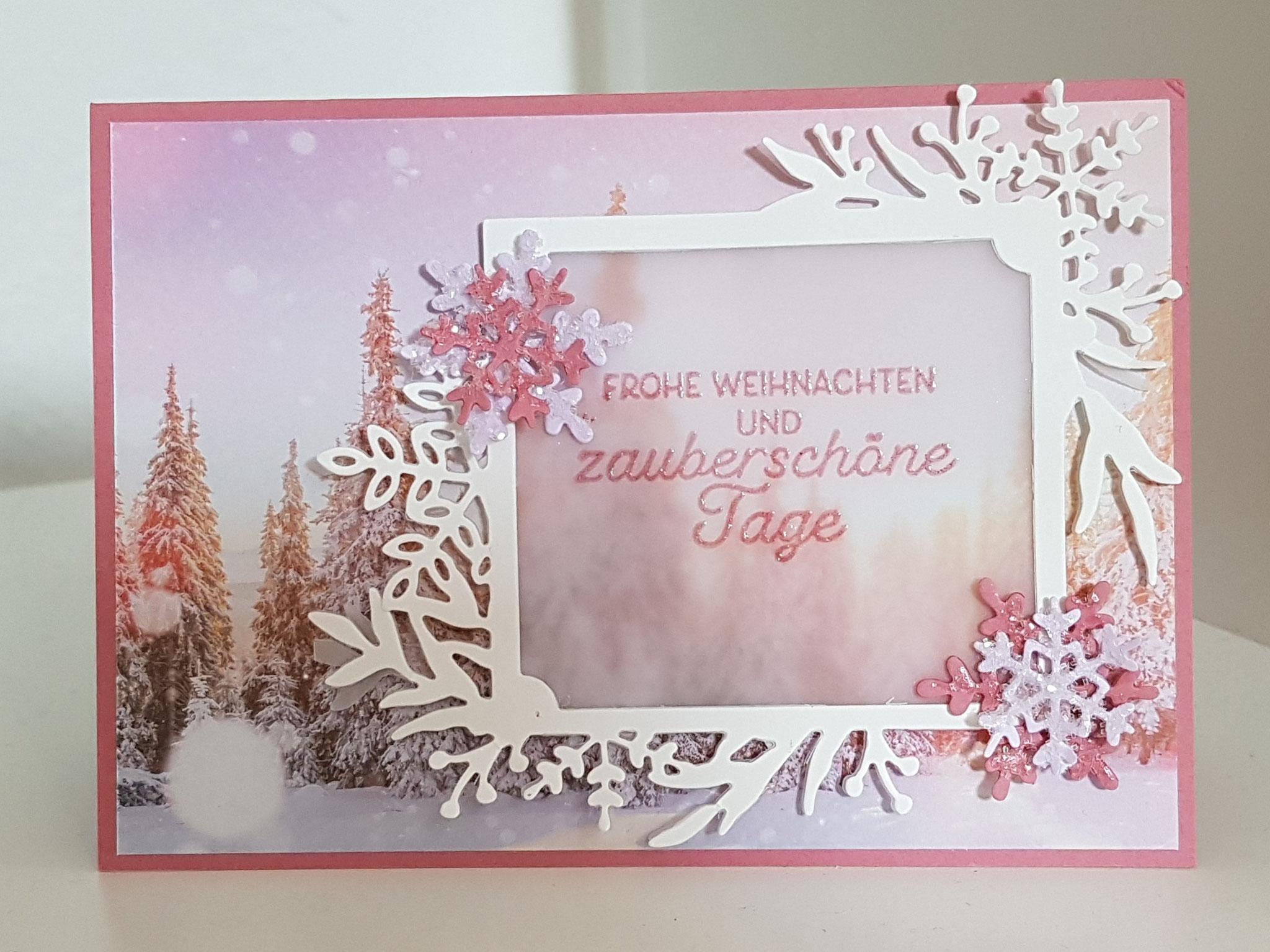 """Karte mit dem Produktpaket """"Winterzauber""""!"""