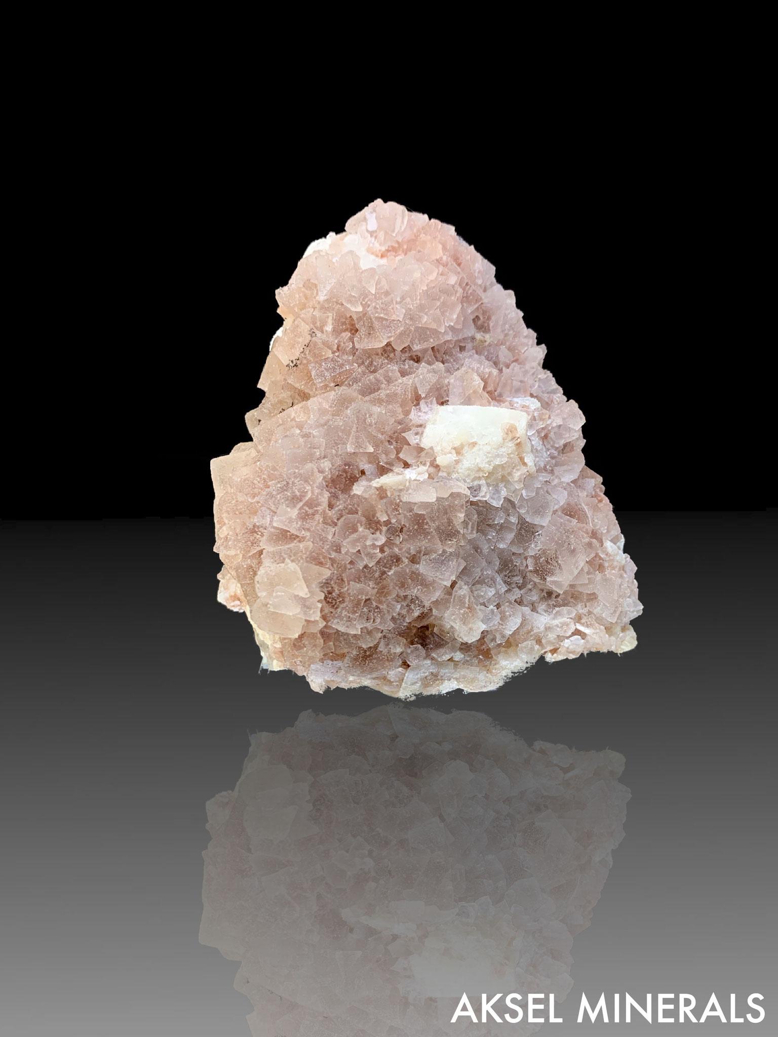 AM364 - Fluorite sur Fluorite et Quartz - De'an Mine, Wushan, De'an Co., Jiujiang, Jiangxi, Chine - 105x90mm