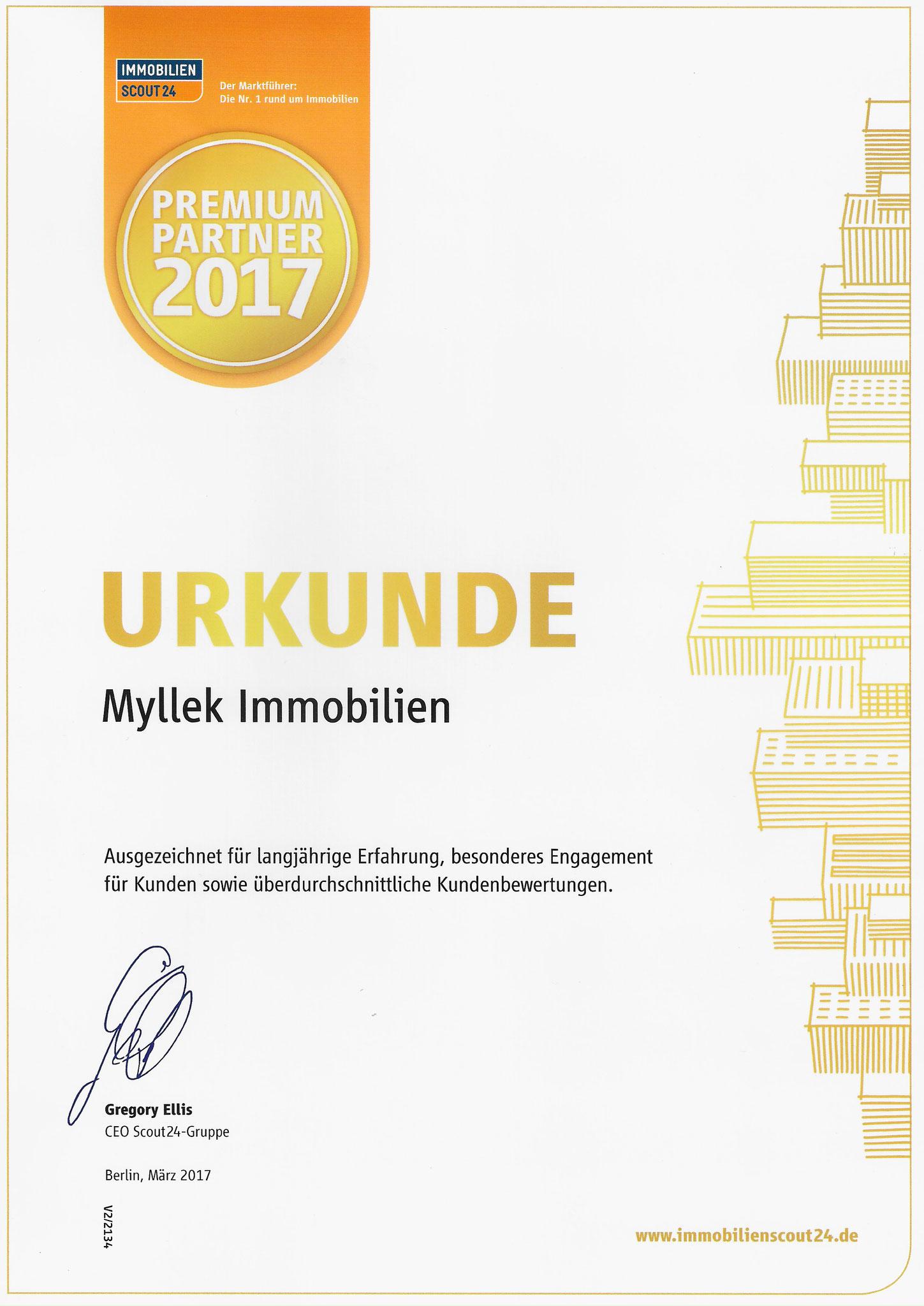 MYLLEK IMMOBILIEN  Premium Partner 2017