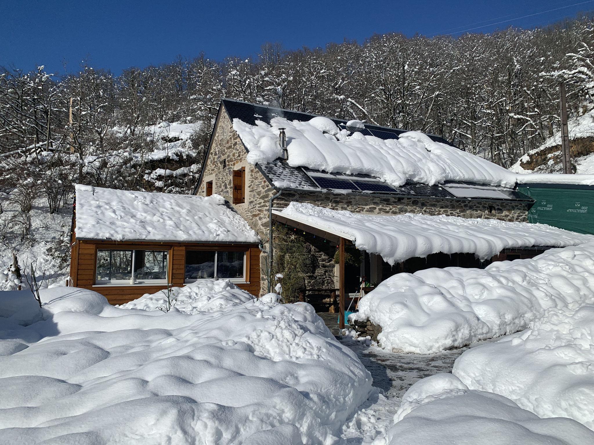 Lépadou Bas sous la neige 2021