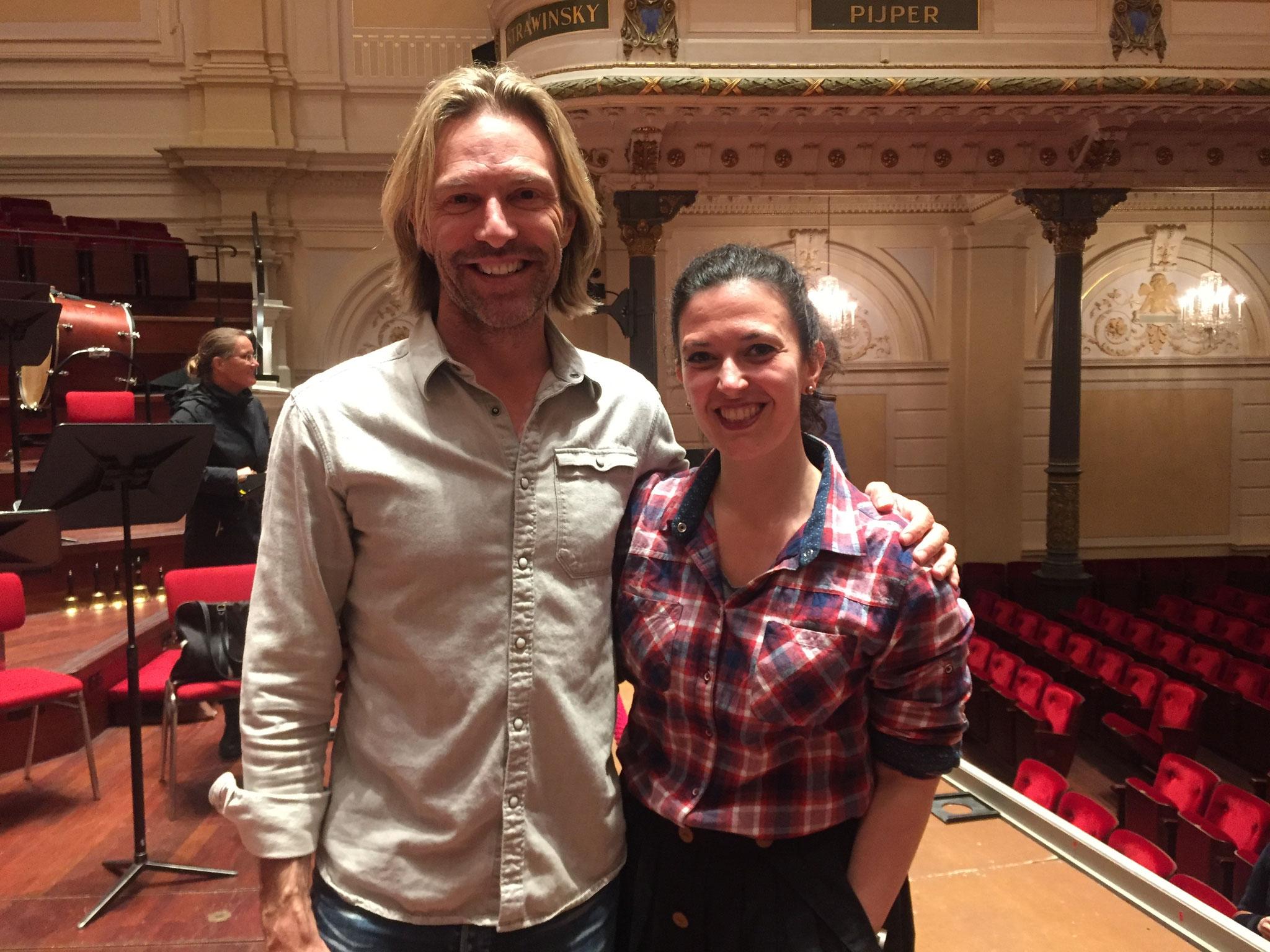 with Eric Whitacre, June'17 - Het Concertgebouw