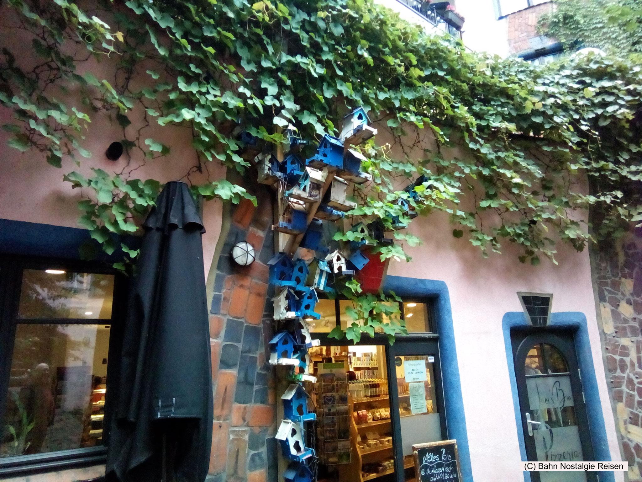 Das Magdeburger Hundertwasserhaus (Grüne Zitadelle), der letzte Bau von Herrn Hundertwasser